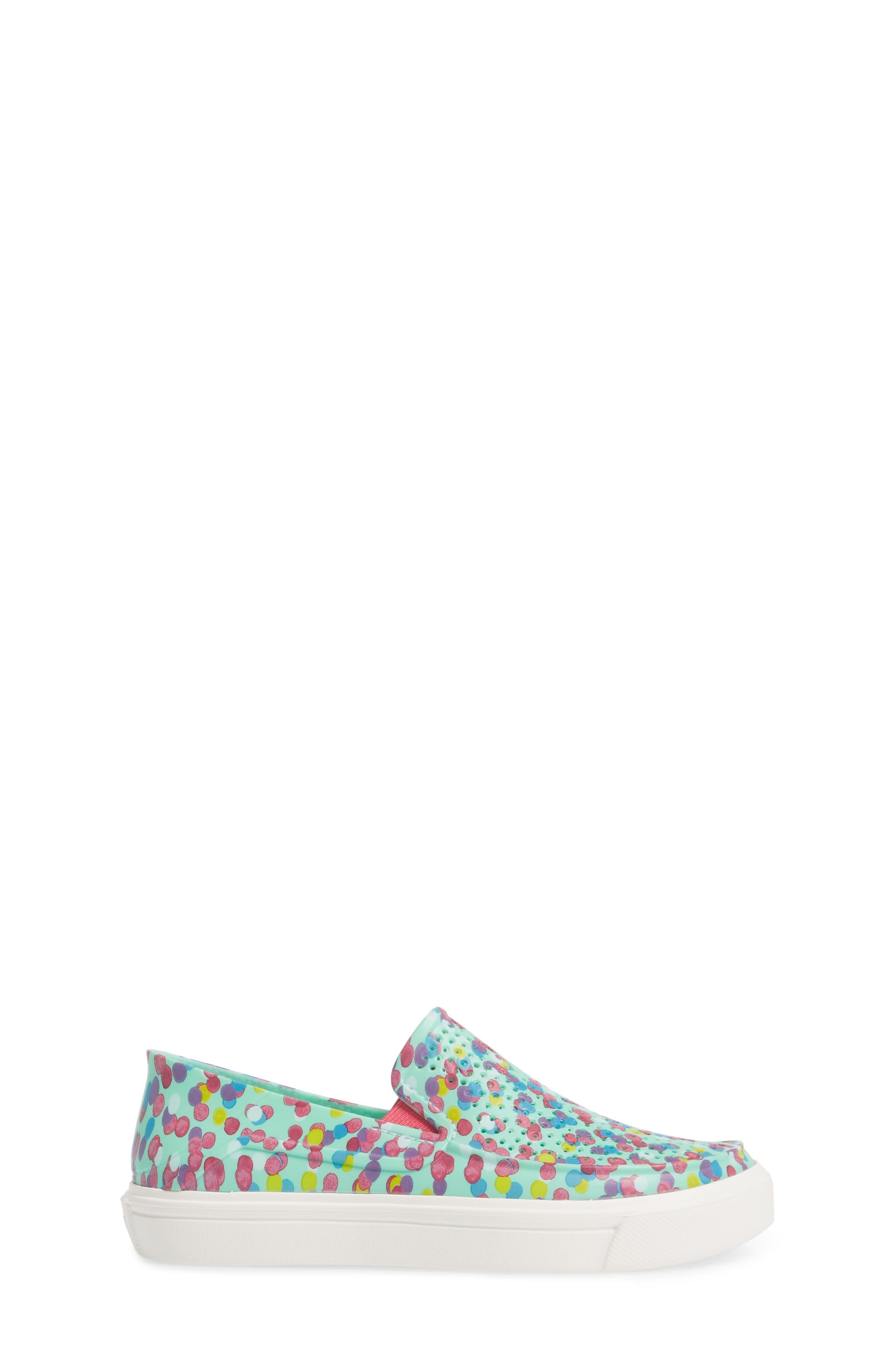 CitiLane Roka Graphic Slip-On Sneaker,                             Alternate thumbnail 3, color,                             Multi/ Mint