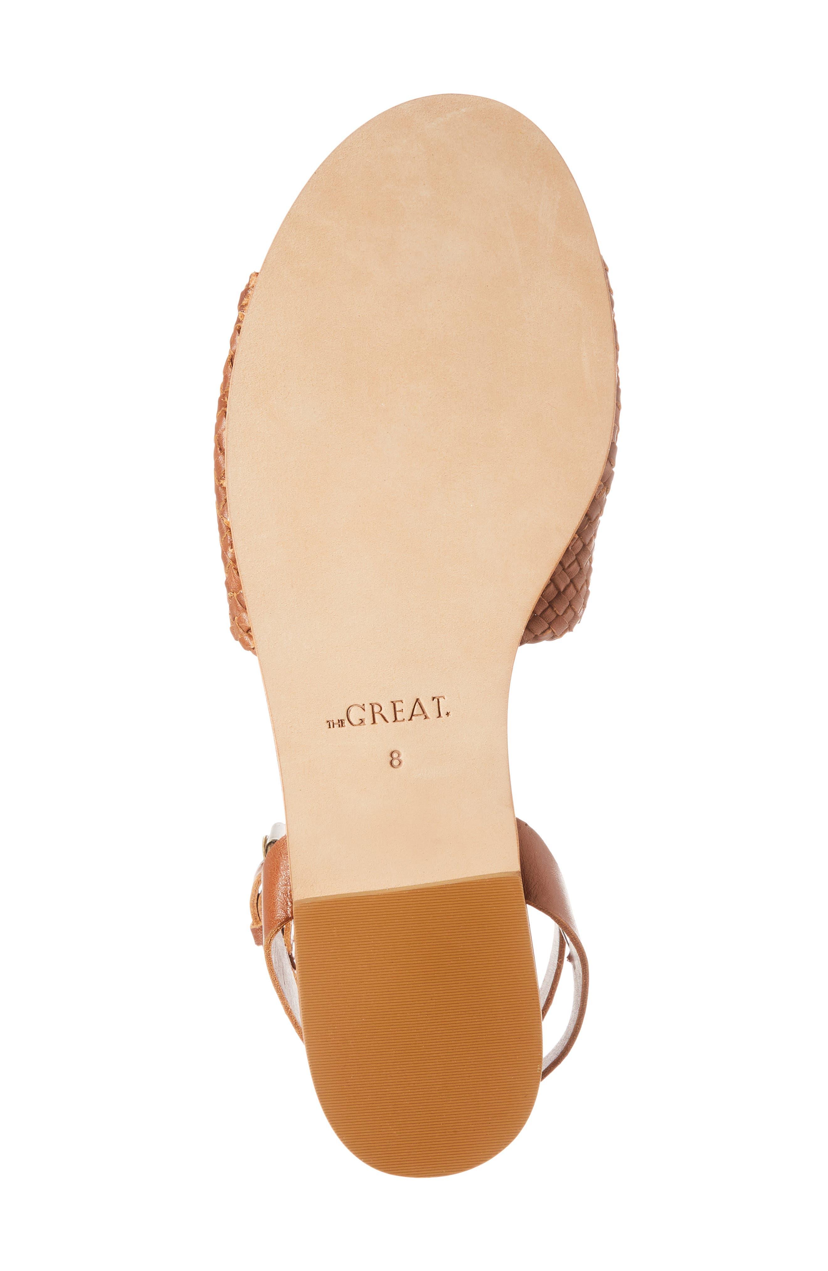 The Great Caravan Ankle Strap Sandal,                             Alternate thumbnail 6, color,                             Cognac