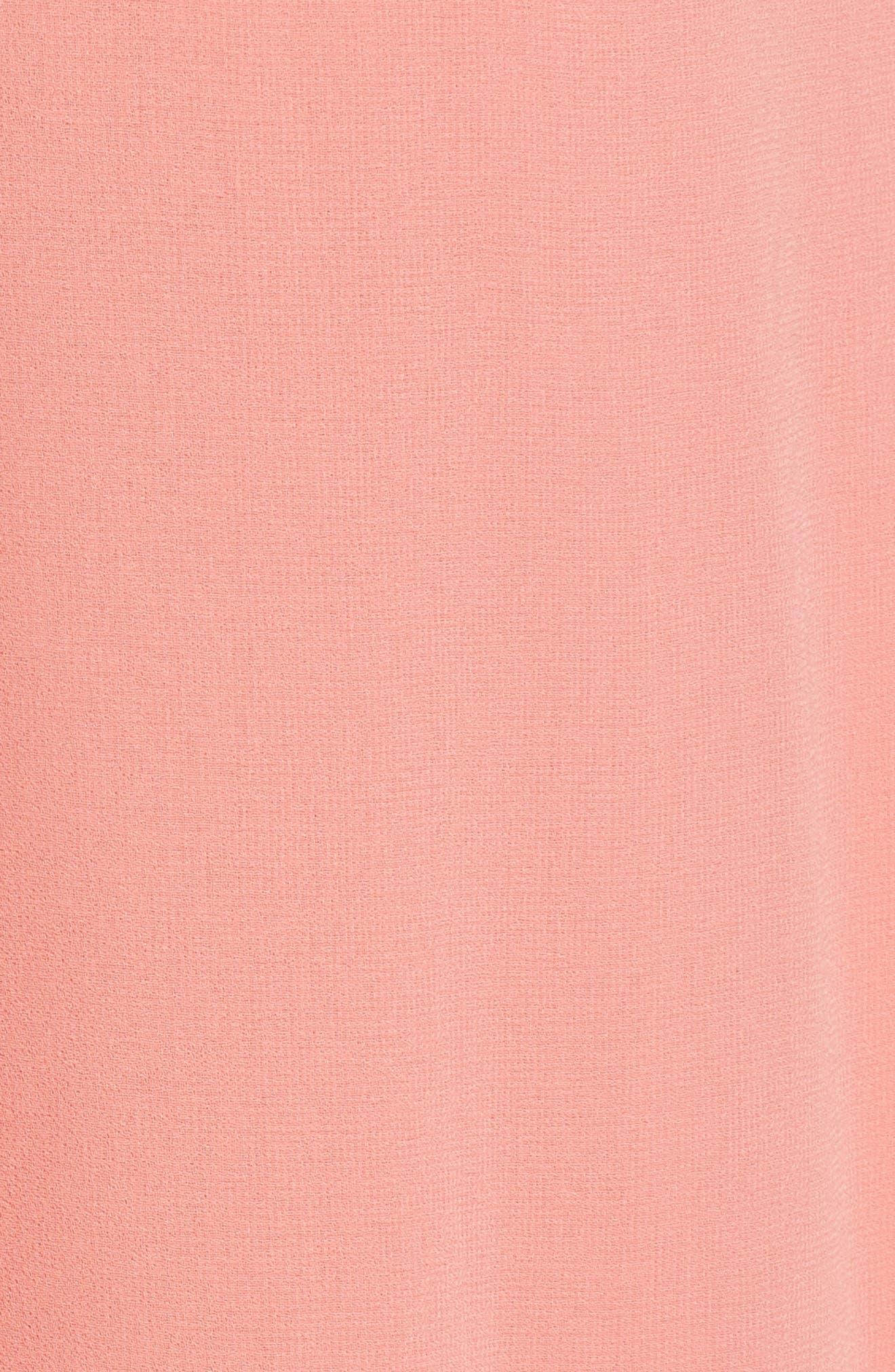 Margaux Midi Dress,                             Alternate thumbnail 3, color,                             Blush
