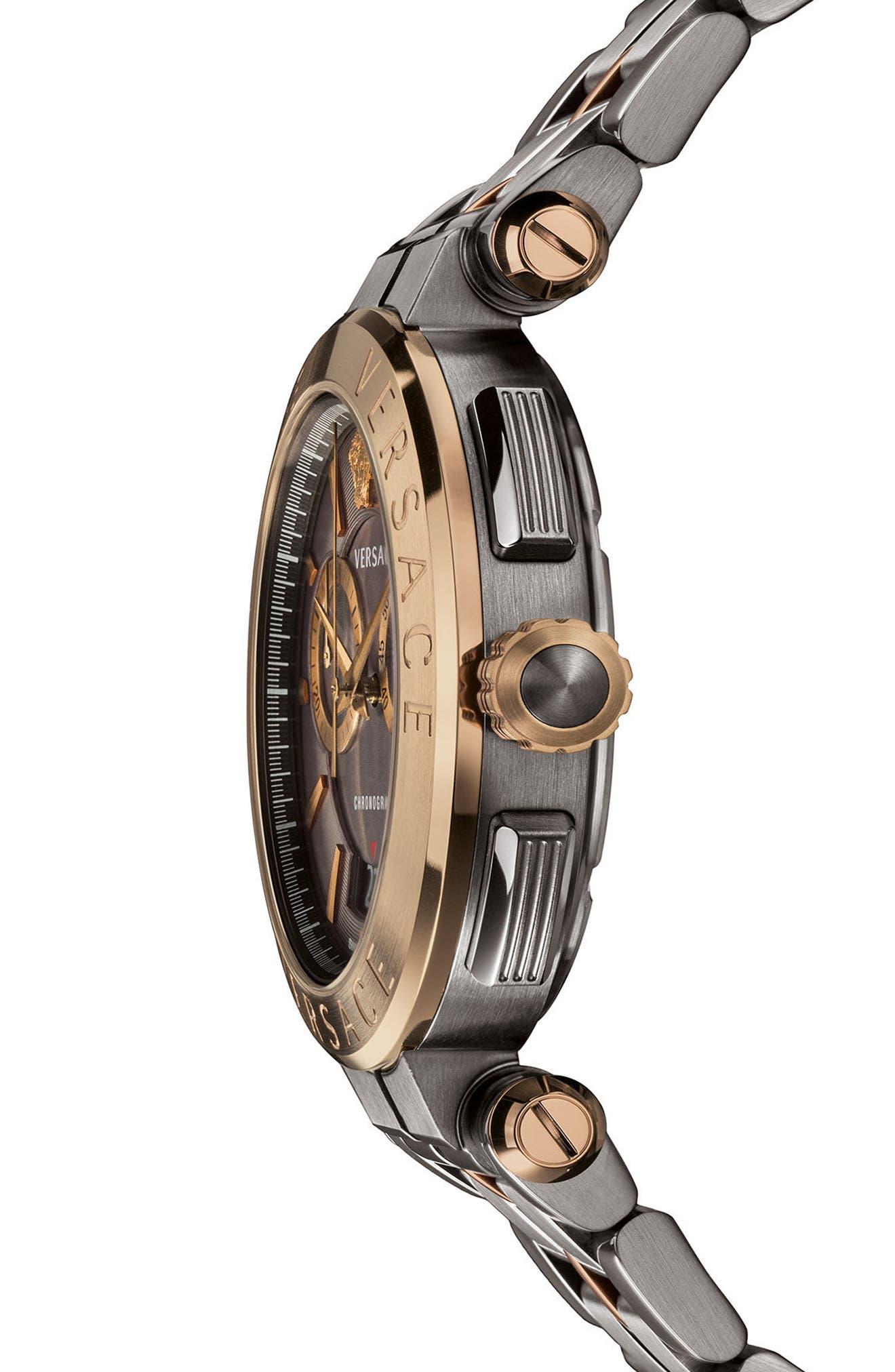 Alternate Image 2  - Versace Aion Chronograph Bracelet Watch, 45mm