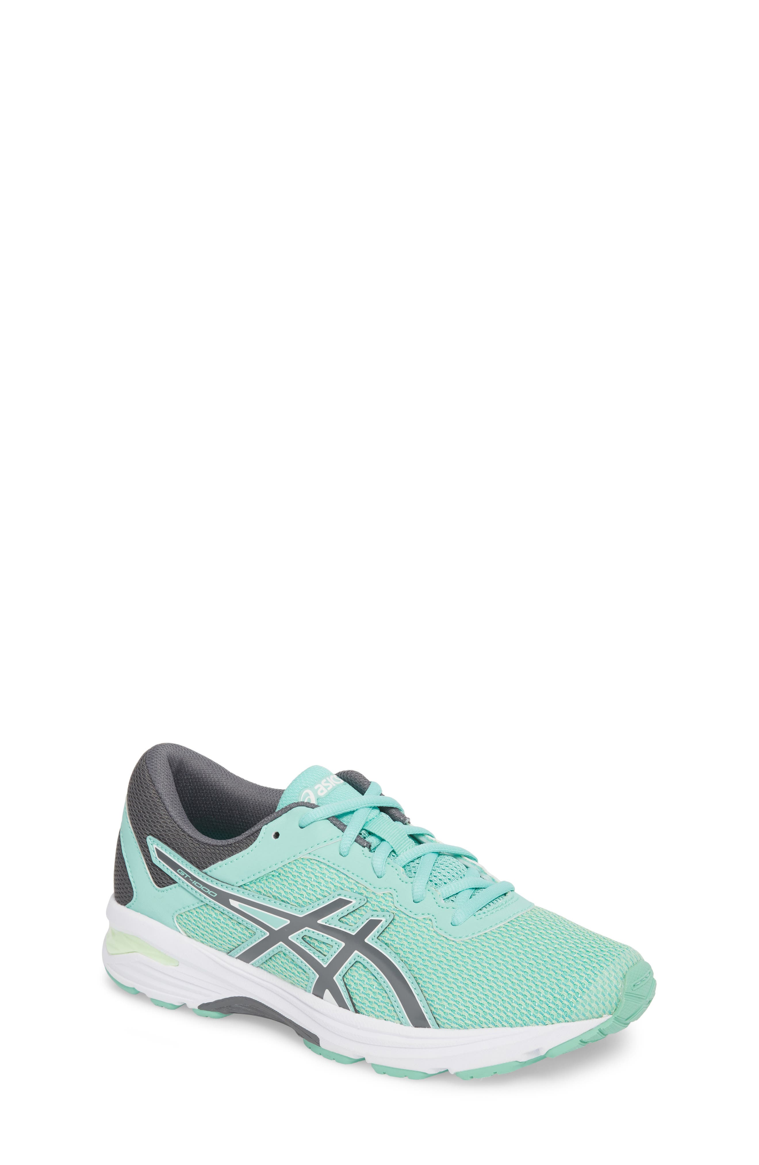 Asics GT-1000<sup>™</sup> 6 GS Sneaker,                         Main,                         color, Carbon/ Opal Green