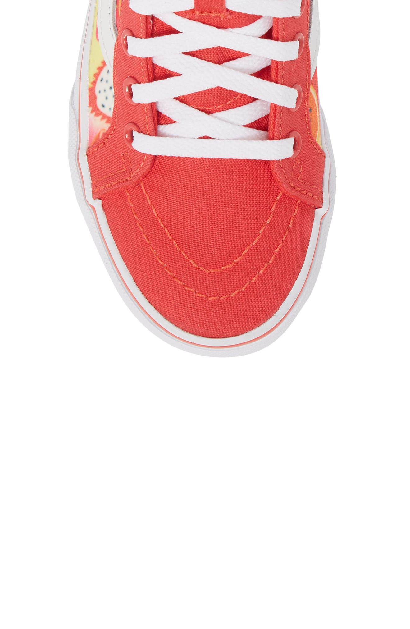 Sk8-Hi Zip Sneaker,                             Alternate thumbnail 5, color,                             Hibiscus/ White Glitter Fruits
