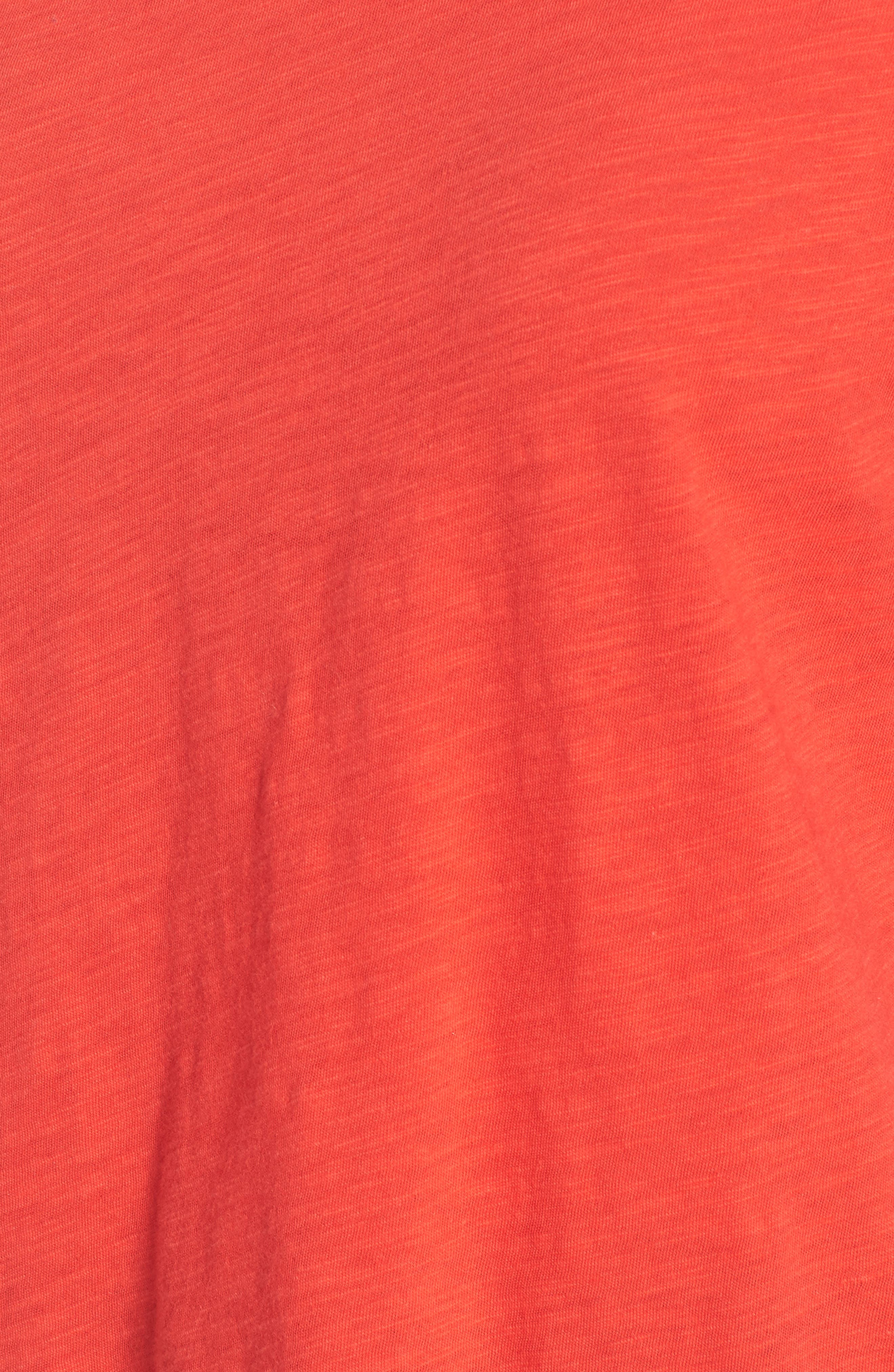 Eyelet Sleeve Burnout Tee,                             Alternate thumbnail 6, color,                             Red