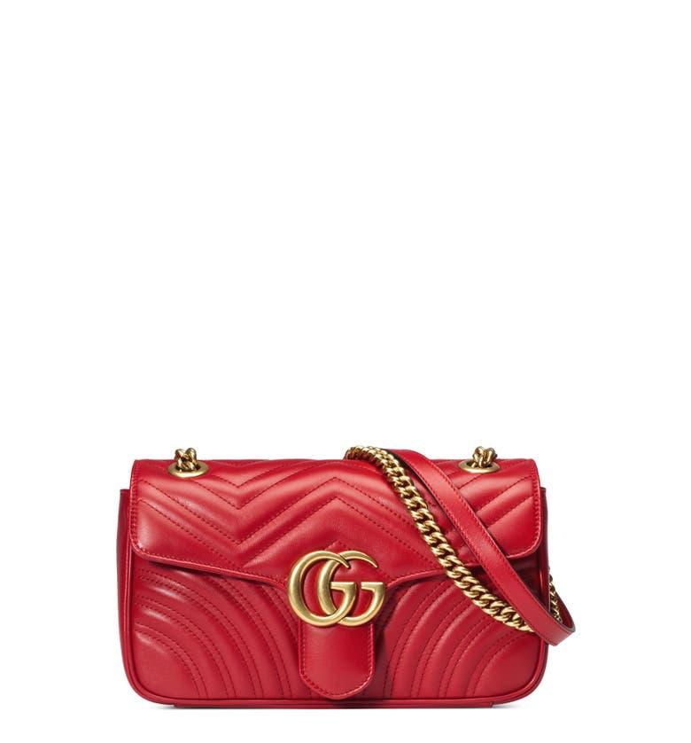 9ef5813e3d235b Gg Marmont Matelassé Shoulder Bag Red | Stanford Center for ...