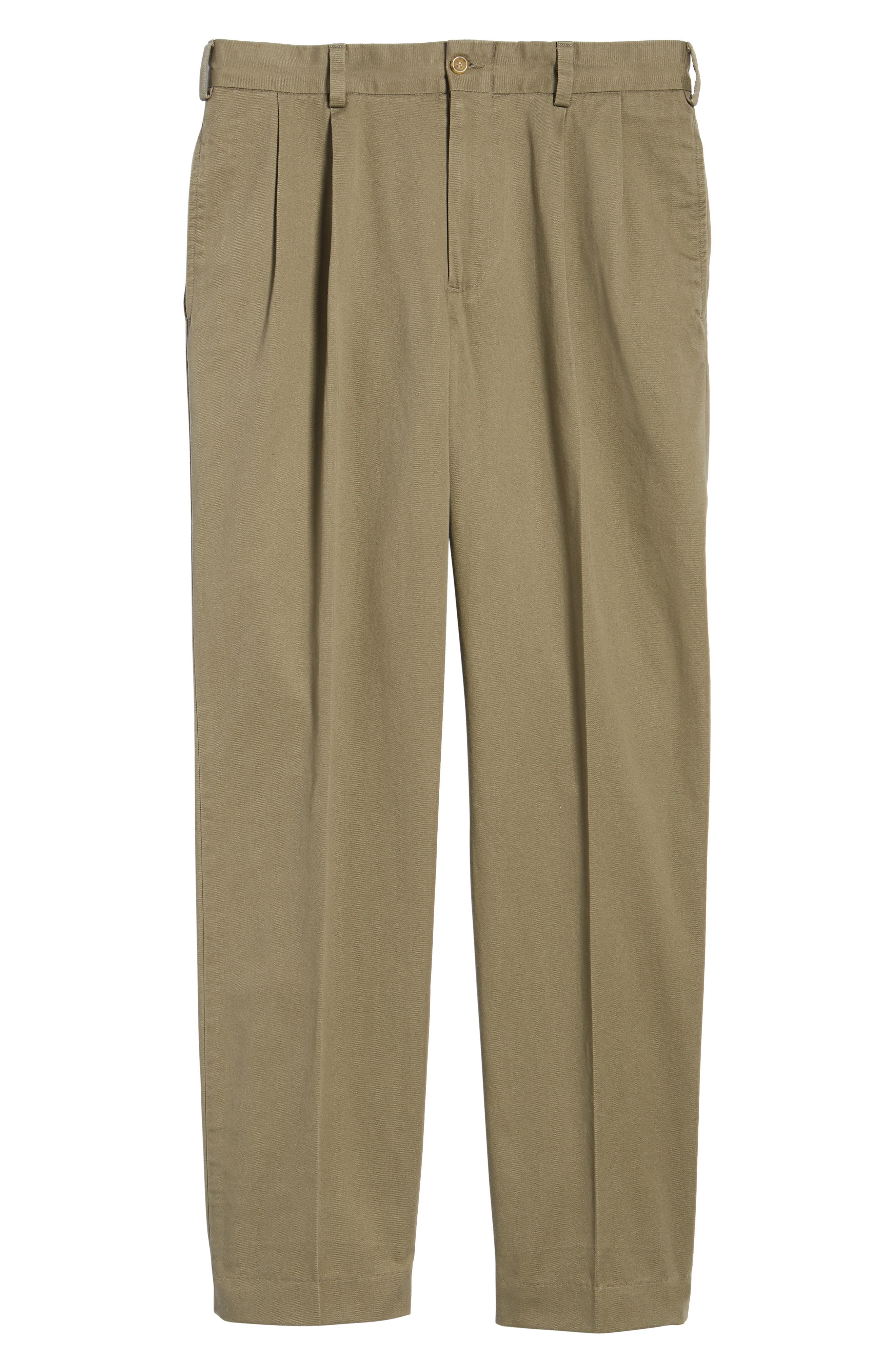 M2 Classic Fit Vintage Twill Pleated Pants,                             Alternate thumbnail 6, color,                             Olive