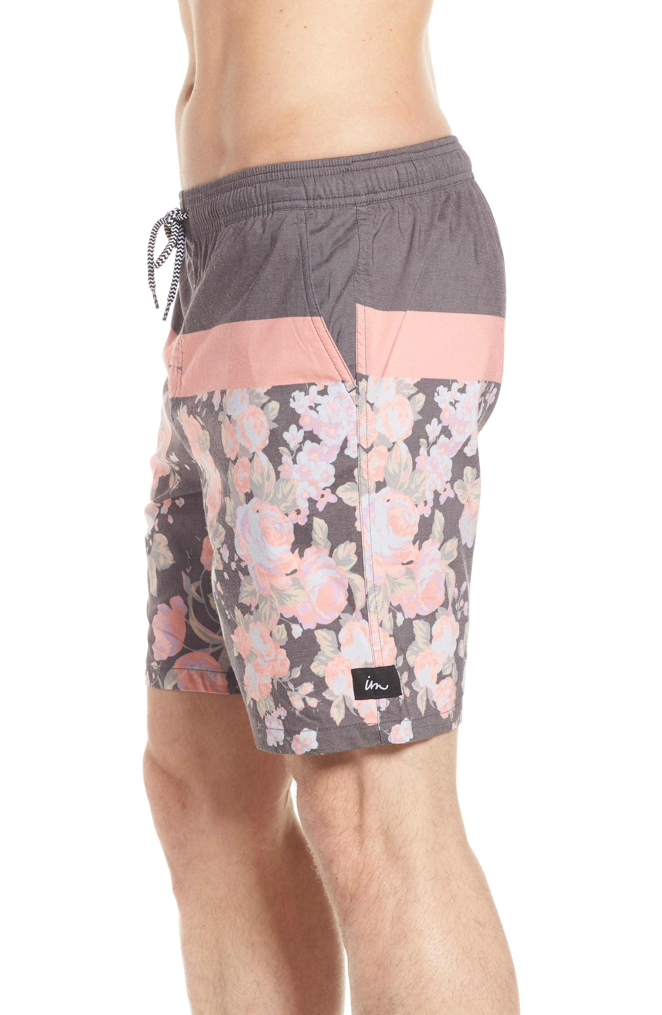 Hayworth Board Shorts,                             Alternate thumbnail 3, color,                             Black