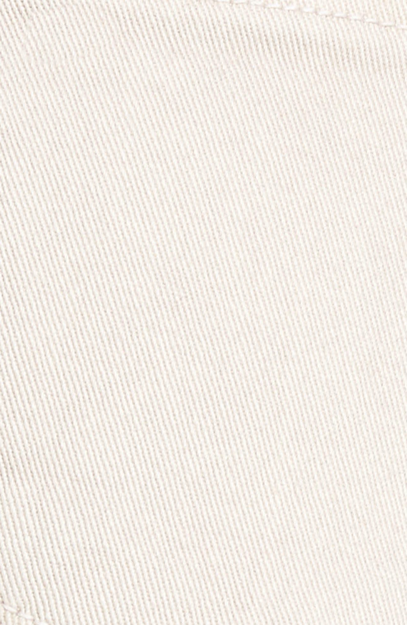 Step Hem Denim Shorts,                             Alternate thumbnail 6, color,                             Dove
