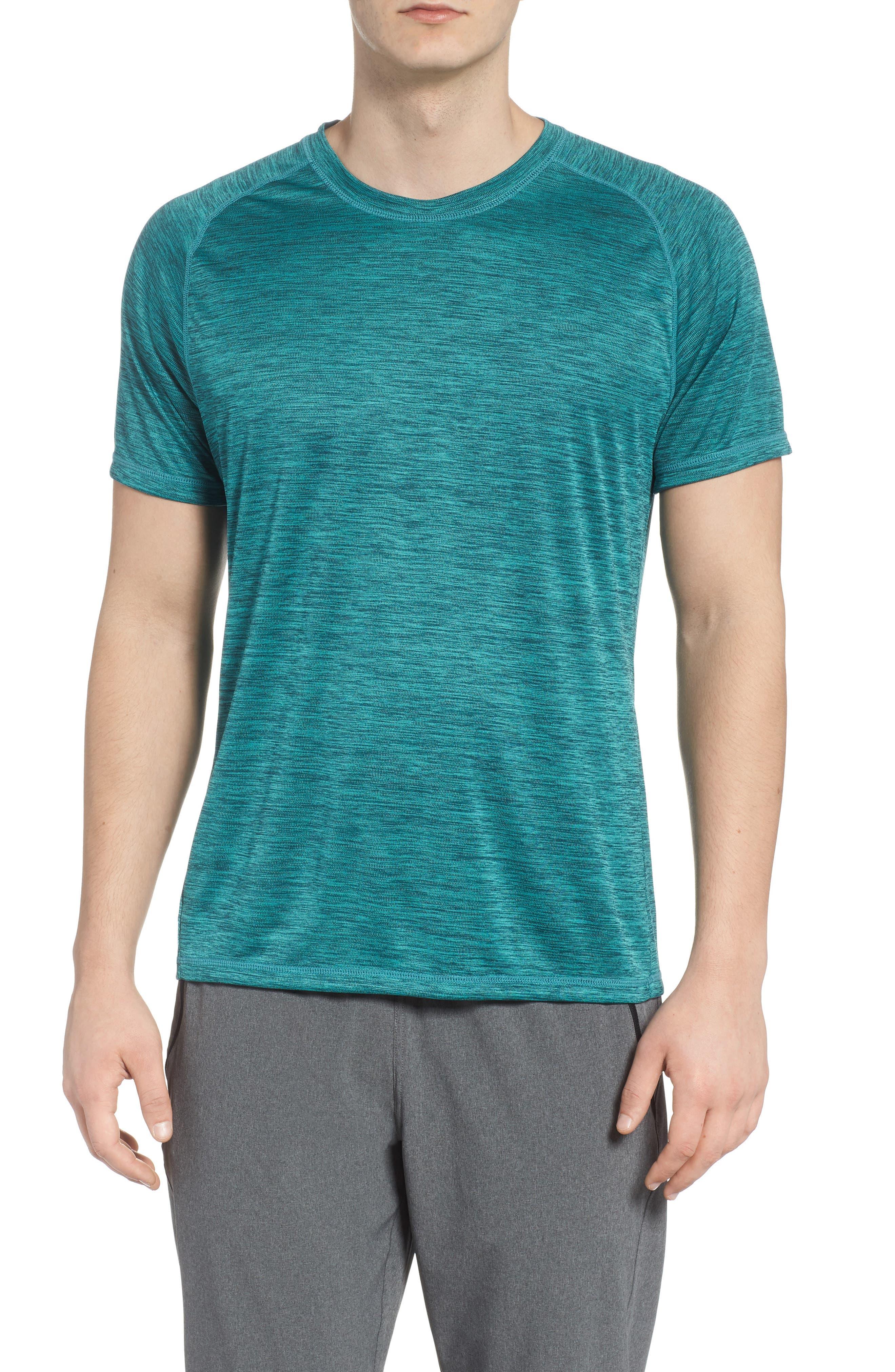 Triplite T-Shirt,                         Main,                         color, Teal Tourmaline Melange