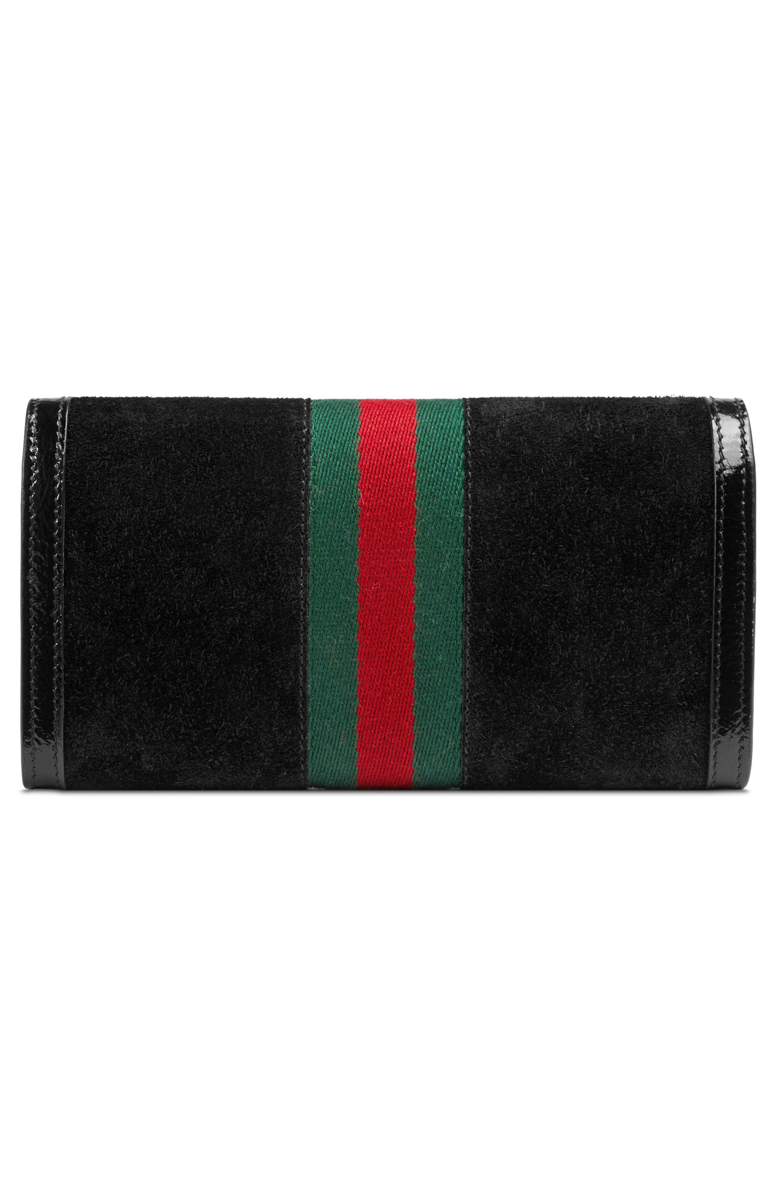 Alternate Image 3  - Gucci Ophidia Suede Continental Wallet