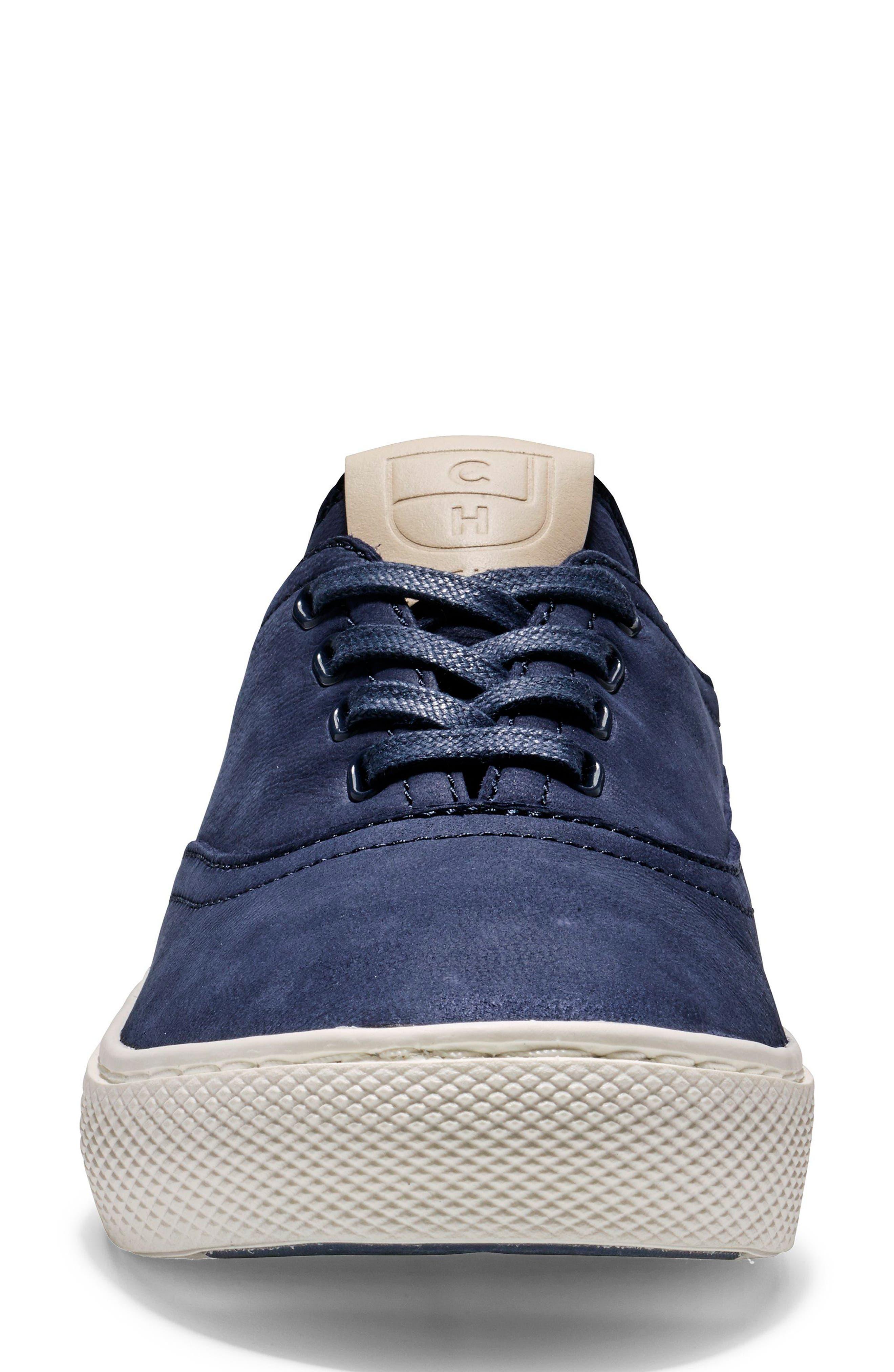 GrandPro Deck Sneaker,                             Alternate thumbnail 4, color,                             Blue/ White Nubuck