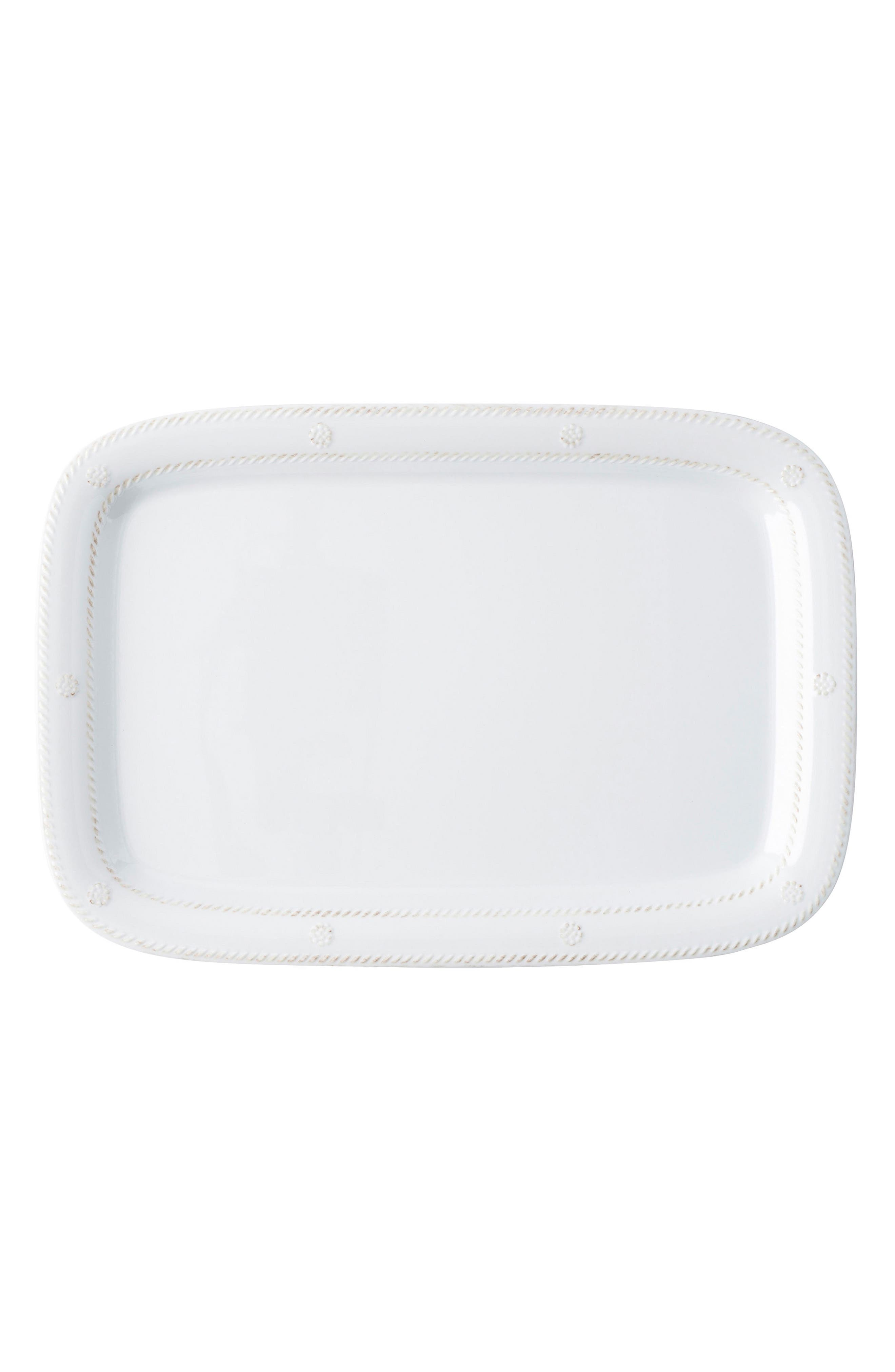 Berry & Thread Whitewash Melamine Serving Tray,                         Main,                         color, Whitewash
