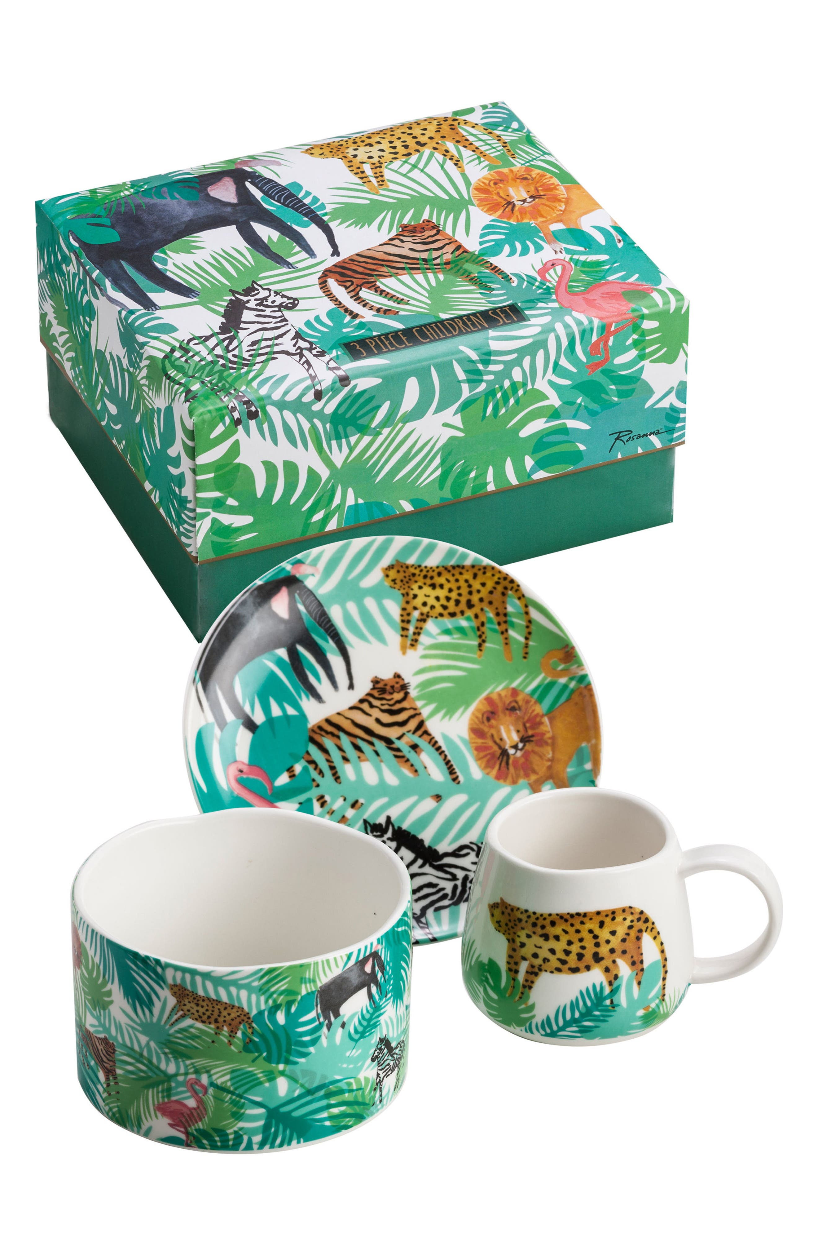 Alternate Image 1 Selected - Rosanna Be Wild 3-Piece Children's Place Setting