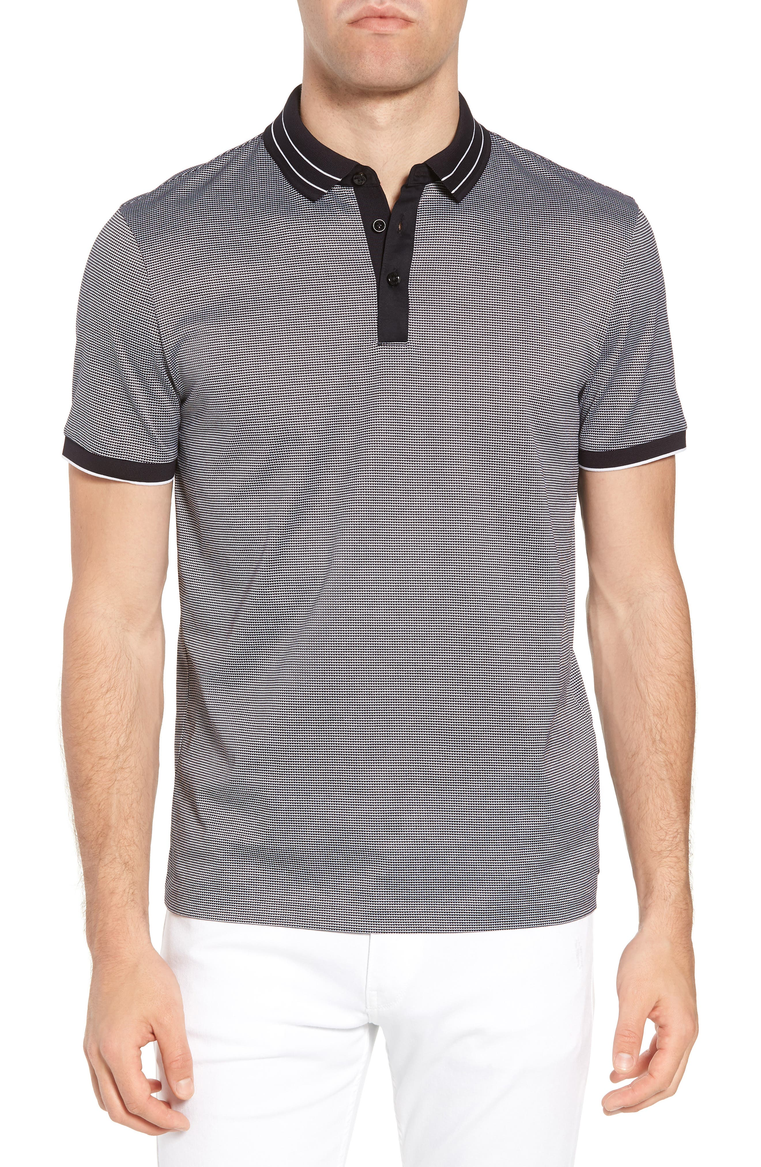 Regular Fit Prout Tipped Polo,                         Main,                         color, Blue