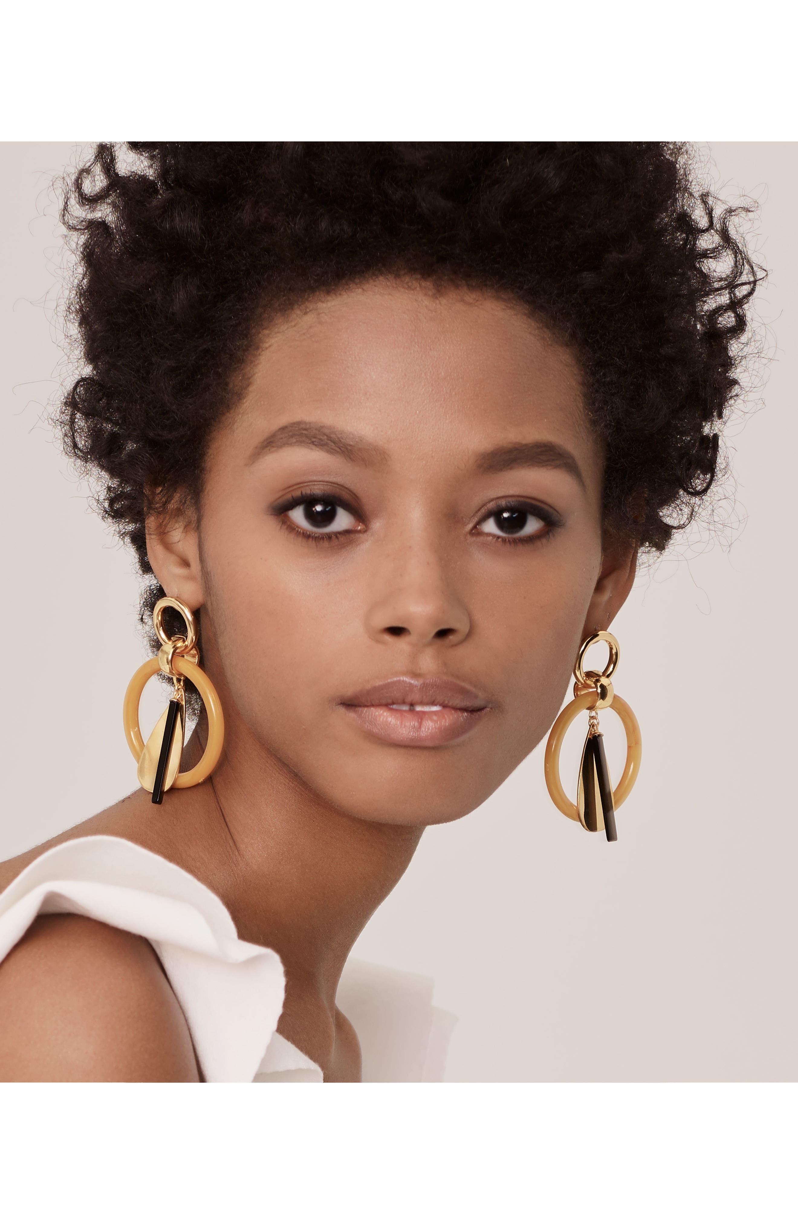 Amber Modern Earrings,                             Alternate thumbnail 2, color,                             Multi