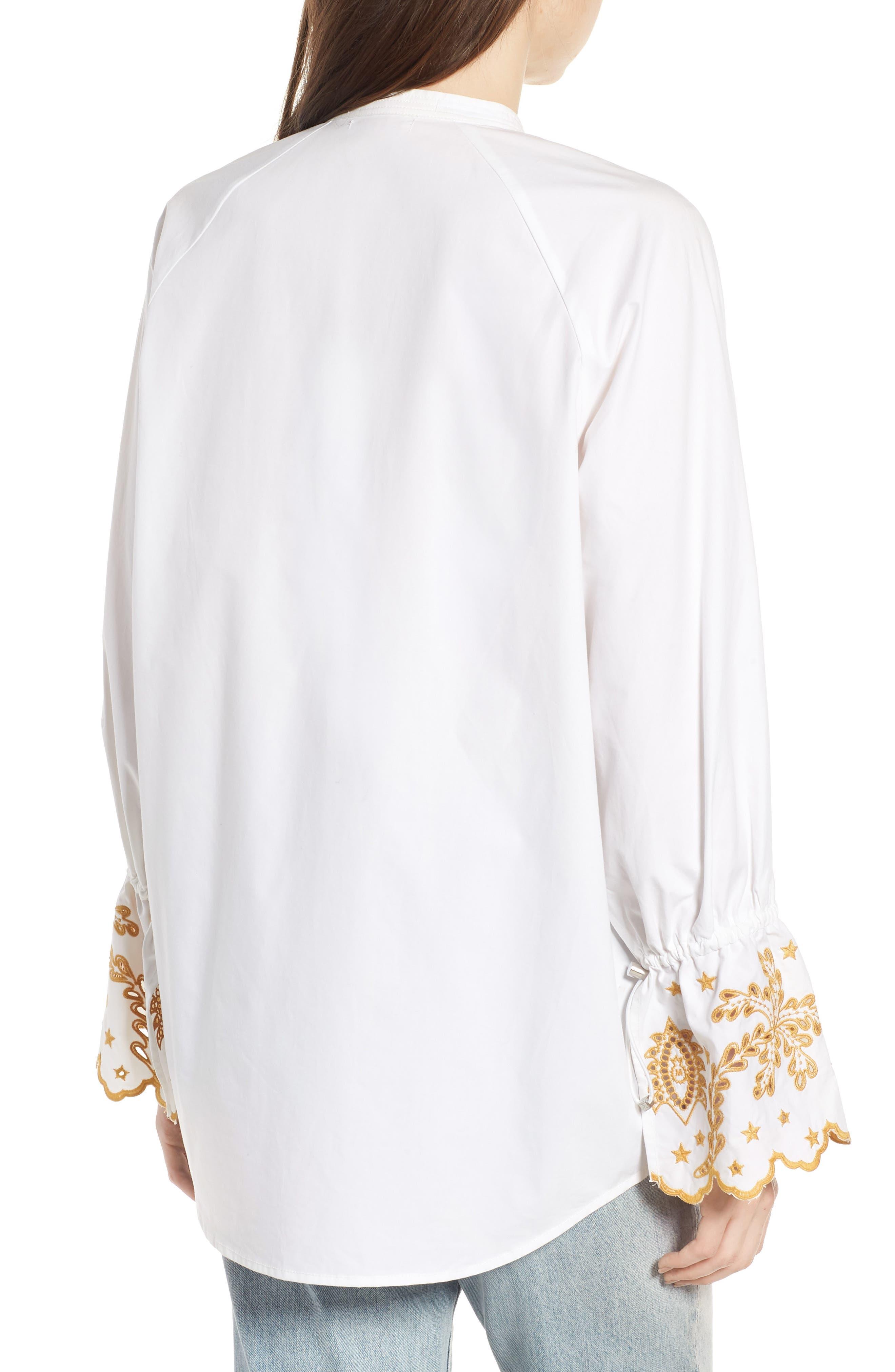 Oversize Button Front Shirt,                             Alternate thumbnail 2, color,                             Color 06 White
