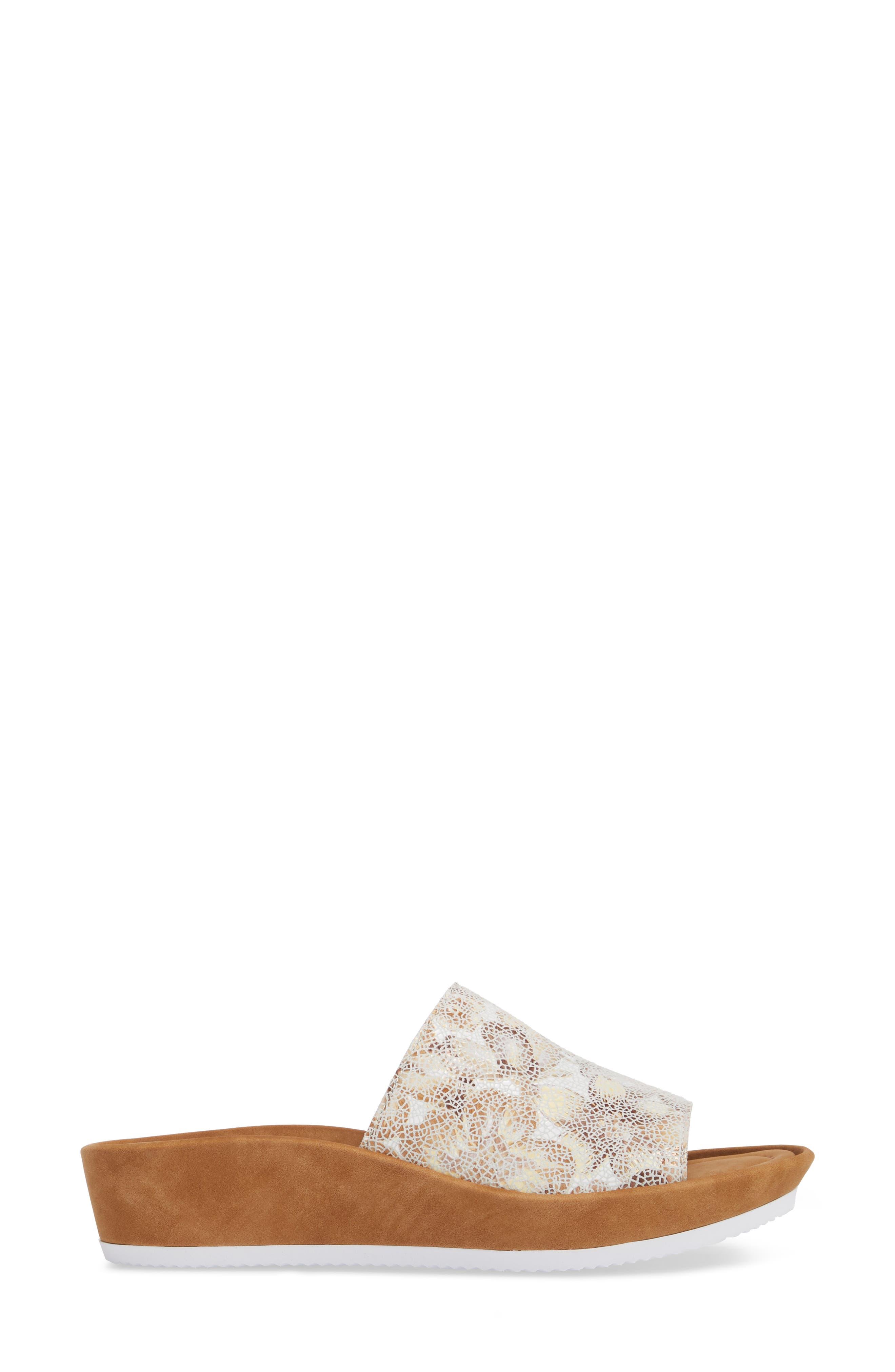Tania Platform Wedge Slide Sandal,                             Alternate thumbnail 3, color,                             Taupe Leather