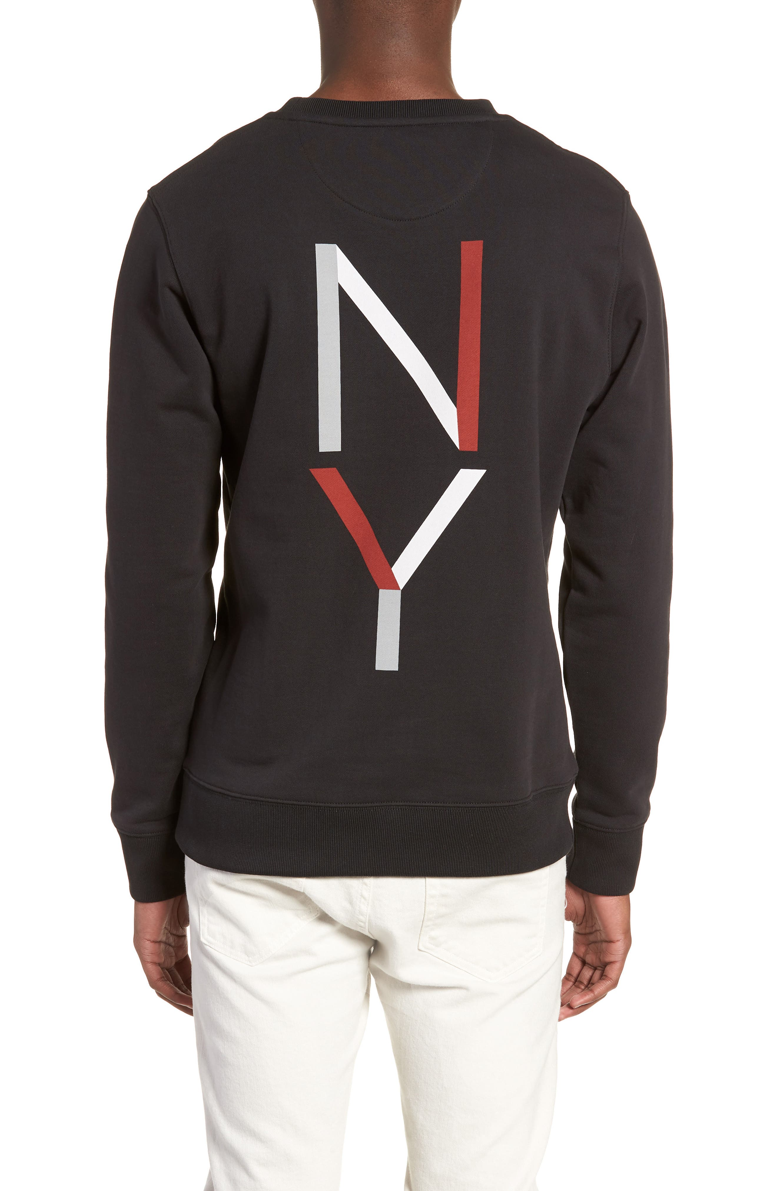 Bowery NY Sweatshirt,                             Alternate thumbnail 2, color,                             Black