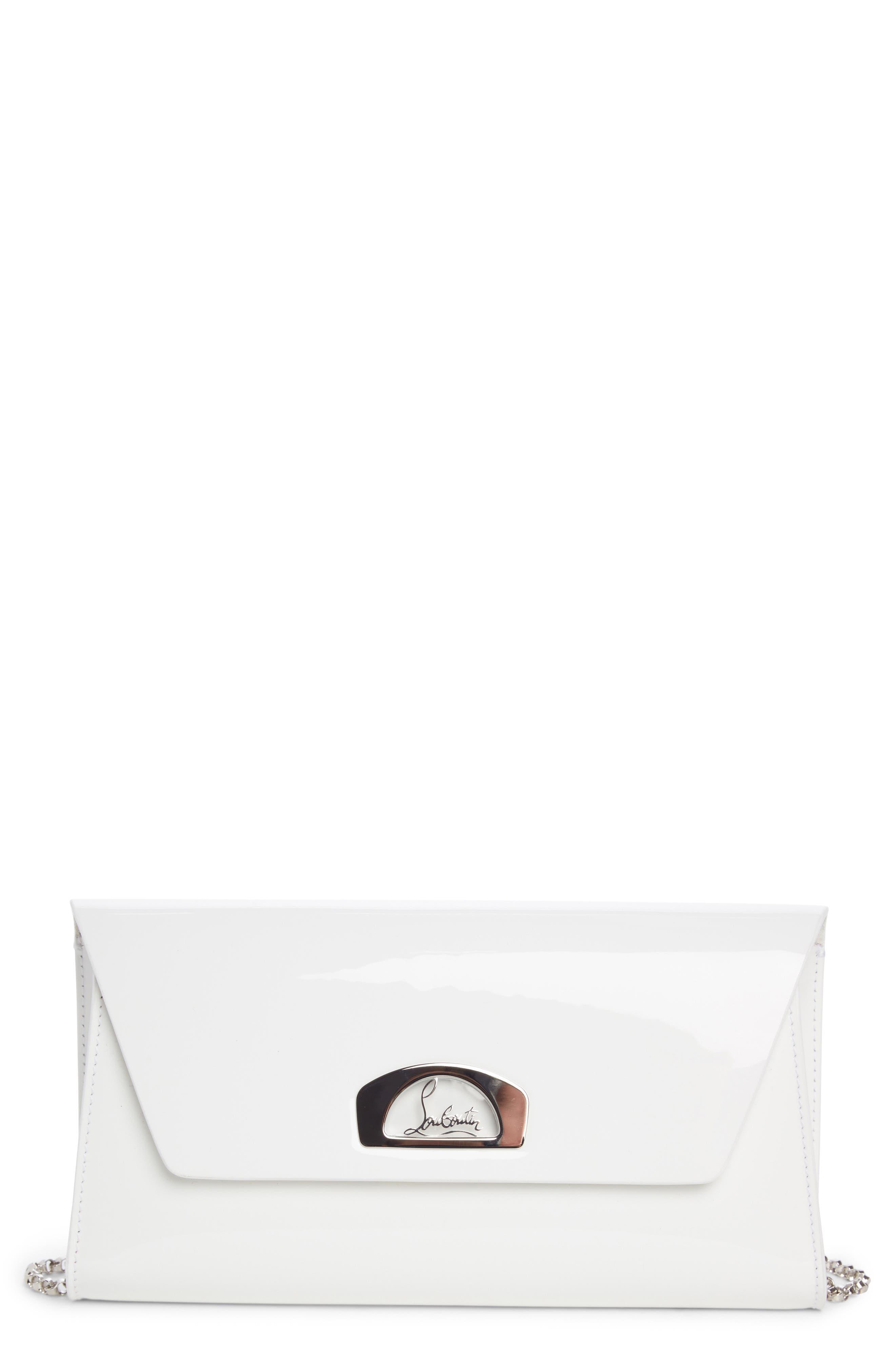 Vero Dodat Patent Leather Clutch,                         Main,                         color, Latte