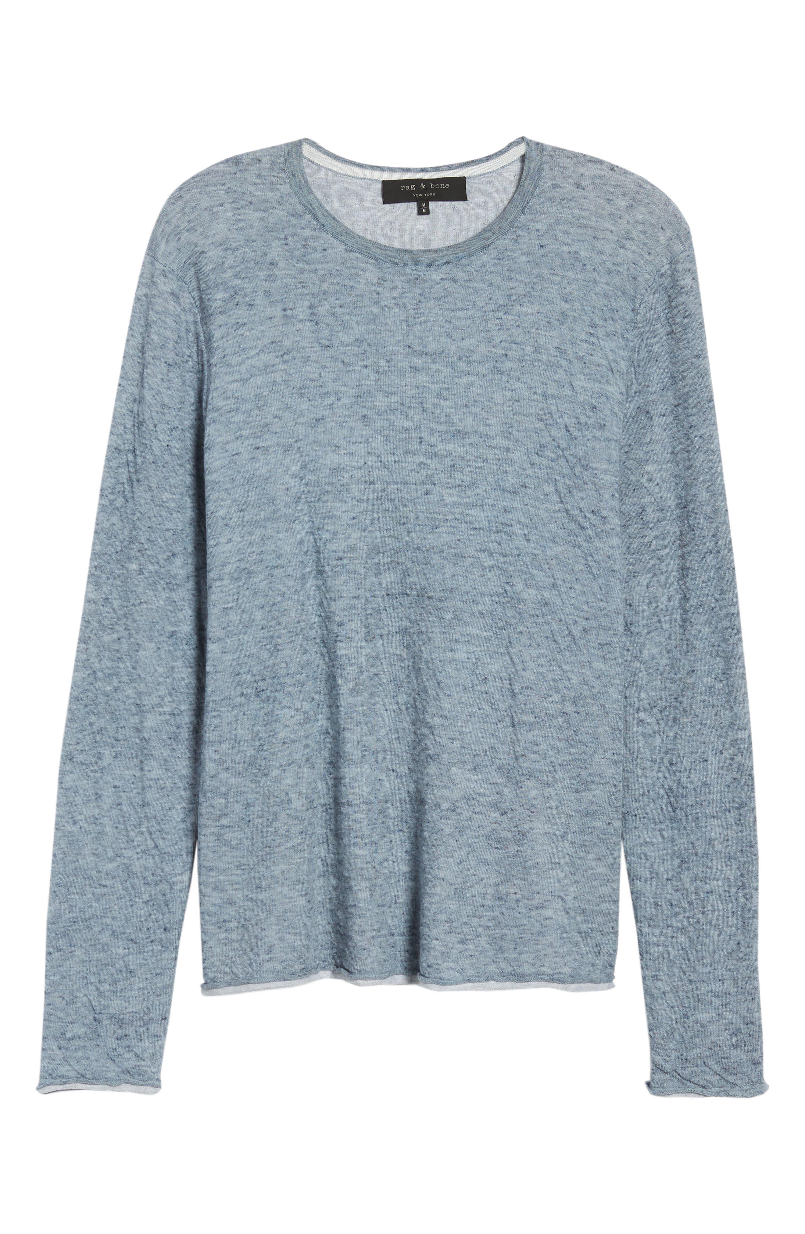 Tripp Regular Fit Crewneck Shirt,                             Alternate thumbnail 6, color,                             Light Blue