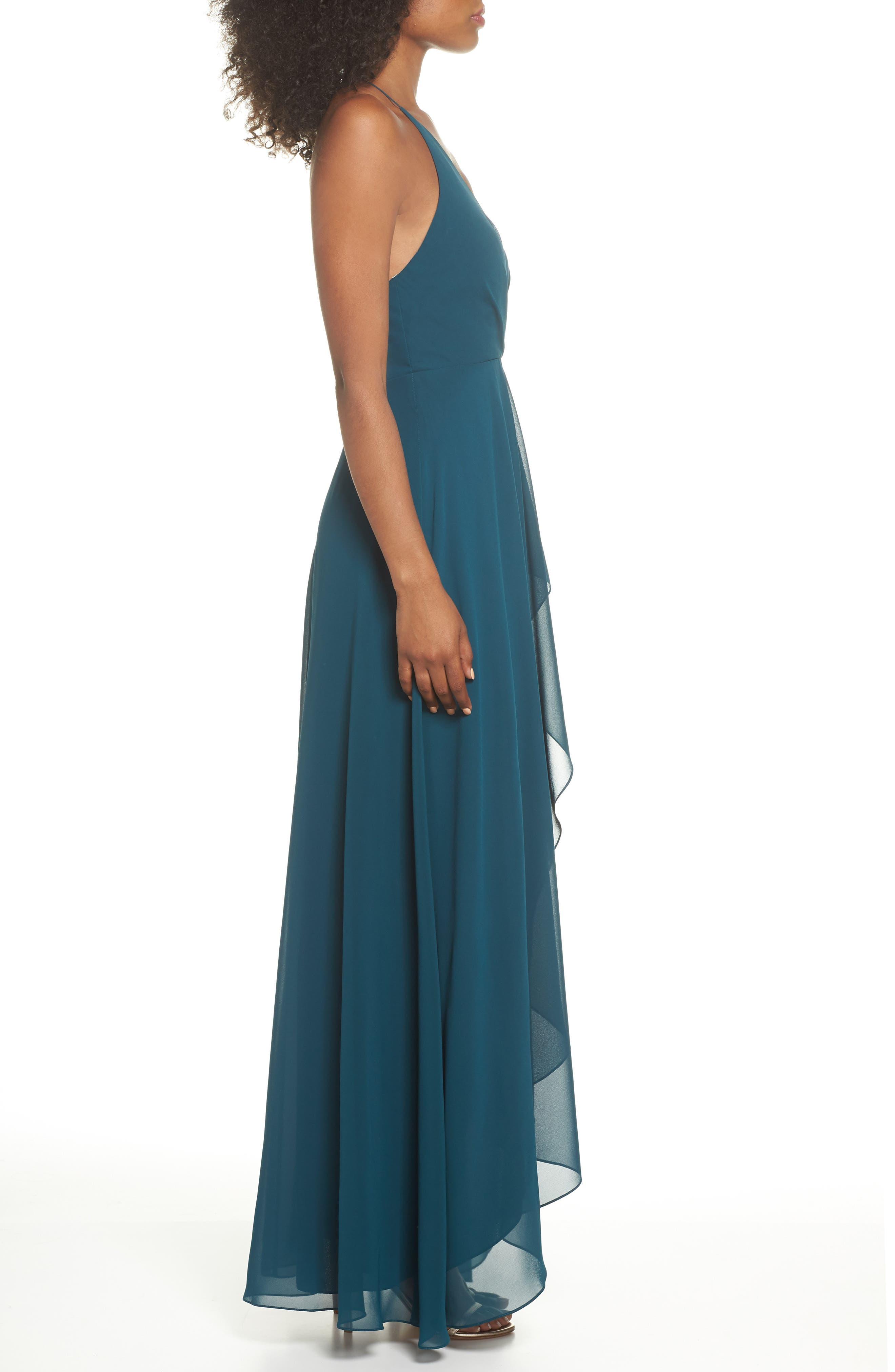 Alternate Image 3  - Jenny Yoo Farrah Ruffle Skirt Chiffon Gown
