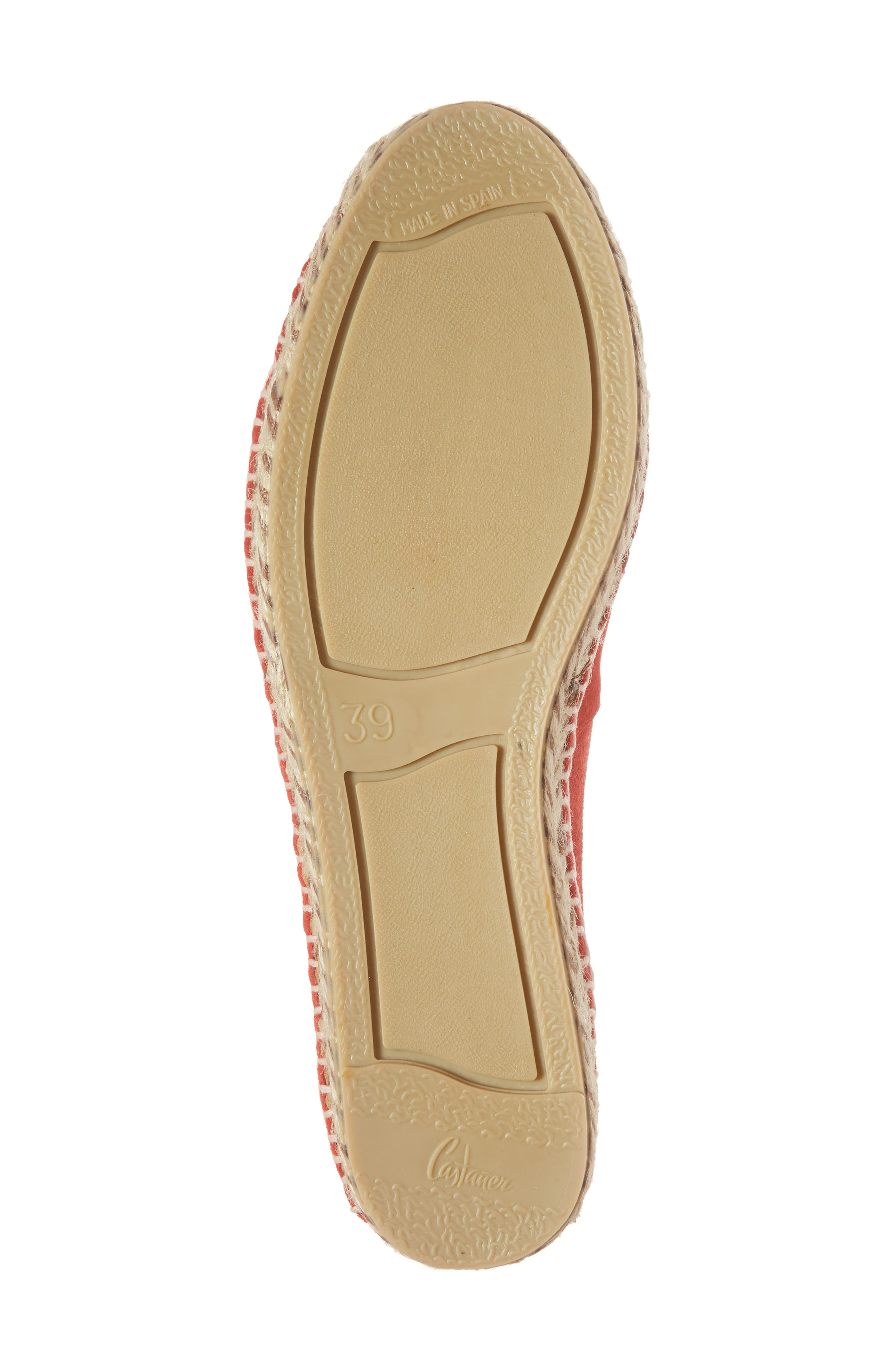Haddie Espadrille Loafer,                             Alternate thumbnail 6, color,                             Red Suede