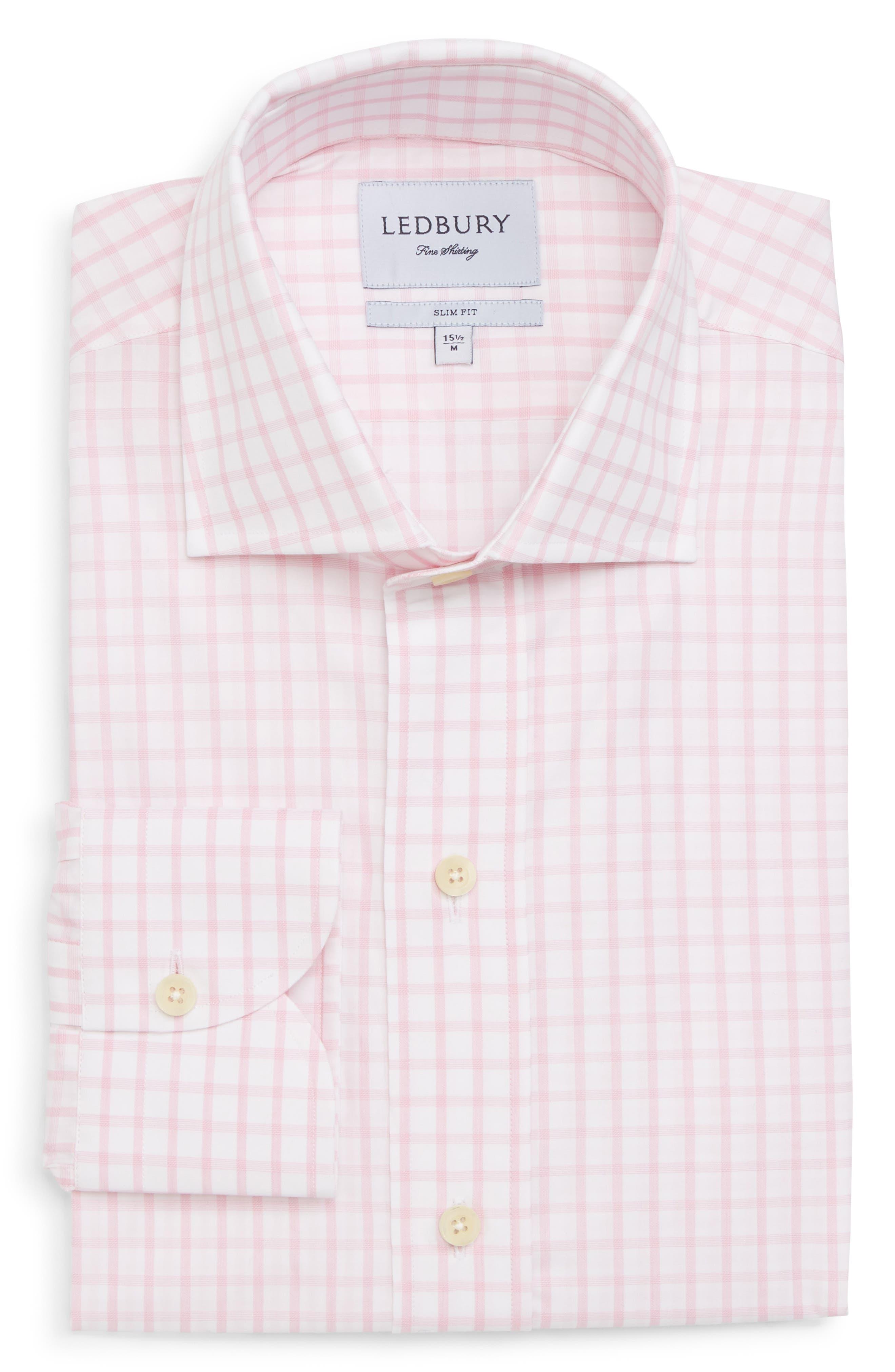Ledbury Armett Trim Fit Windowpane Dress Shirt