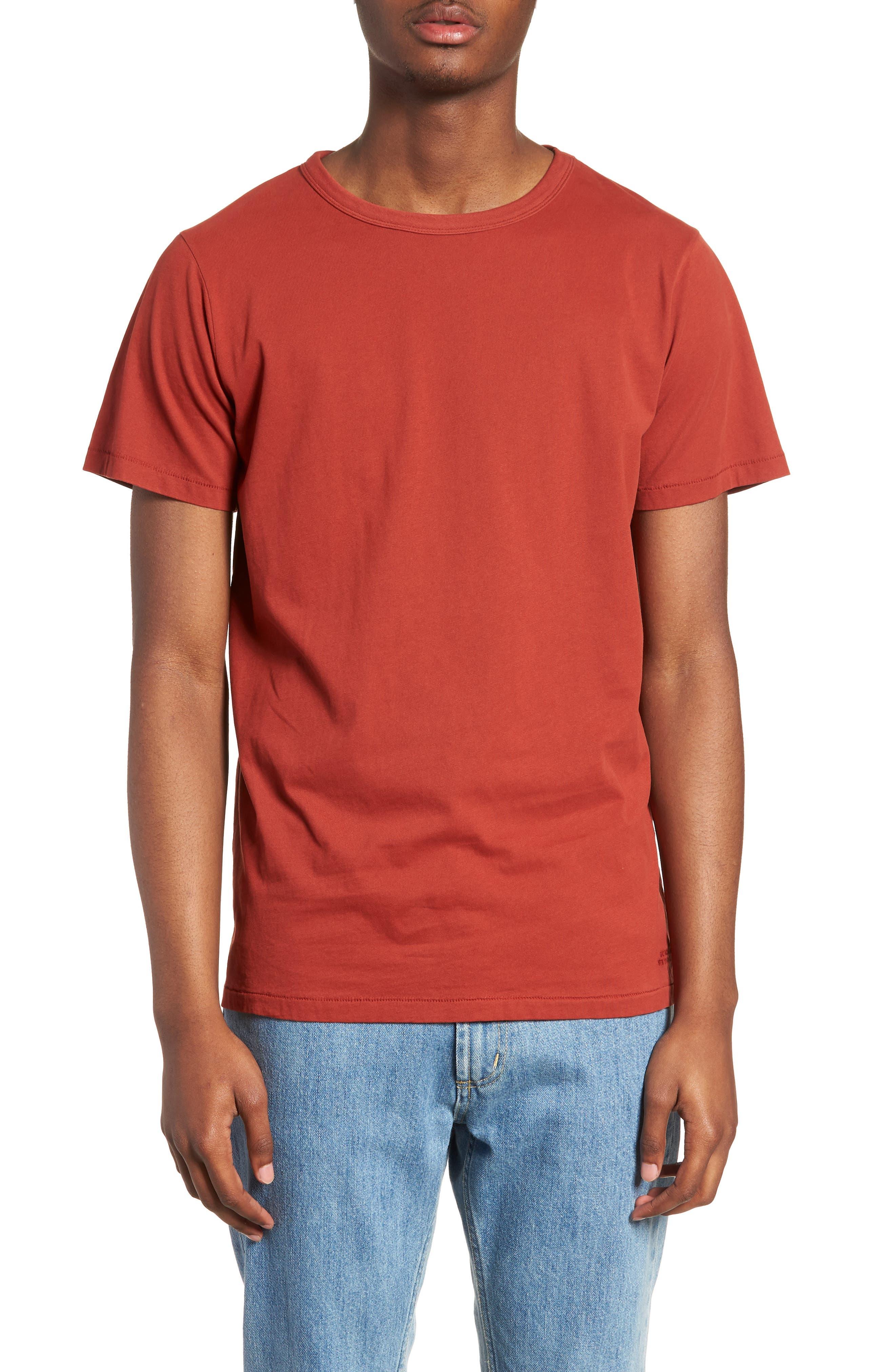 Brandon Pima T-Shirt,                             Main thumbnail 1, color,                             Brick