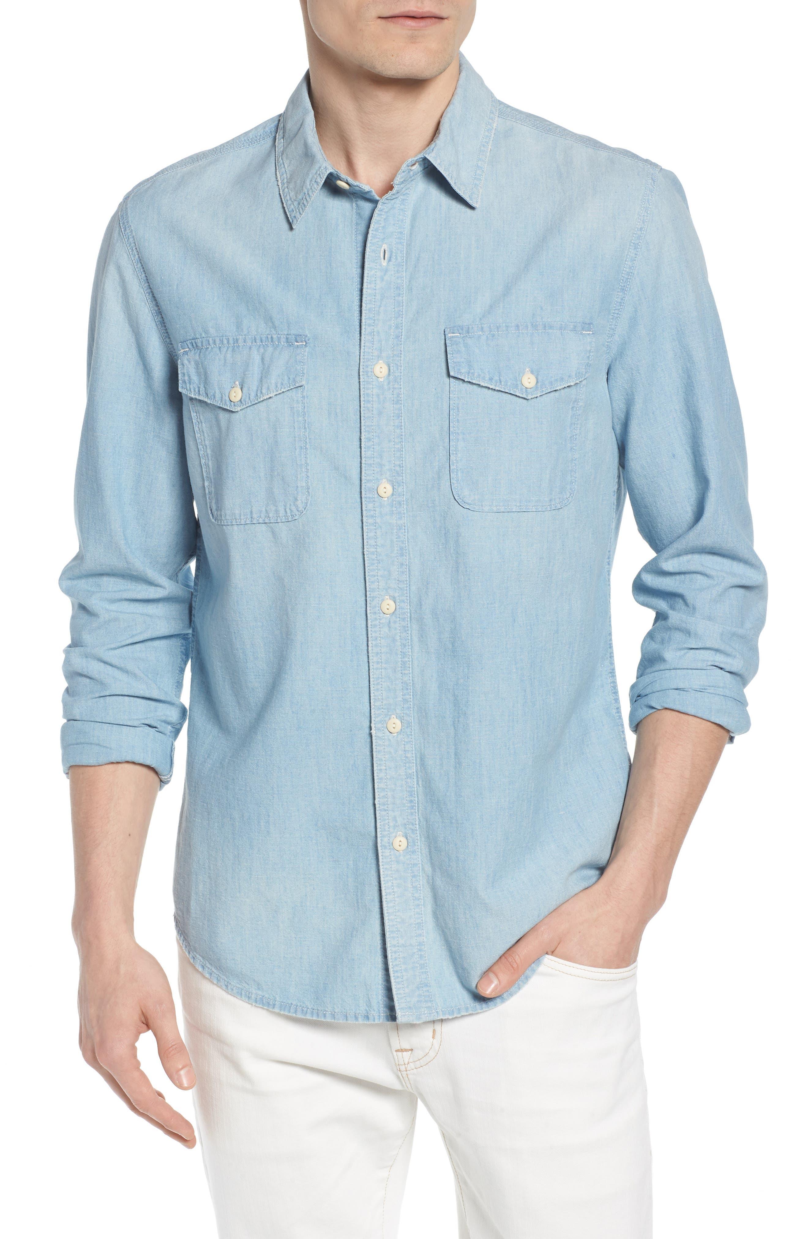 Benning Regular Fit Sport Shirt,                         Main,                         color, Roadstead