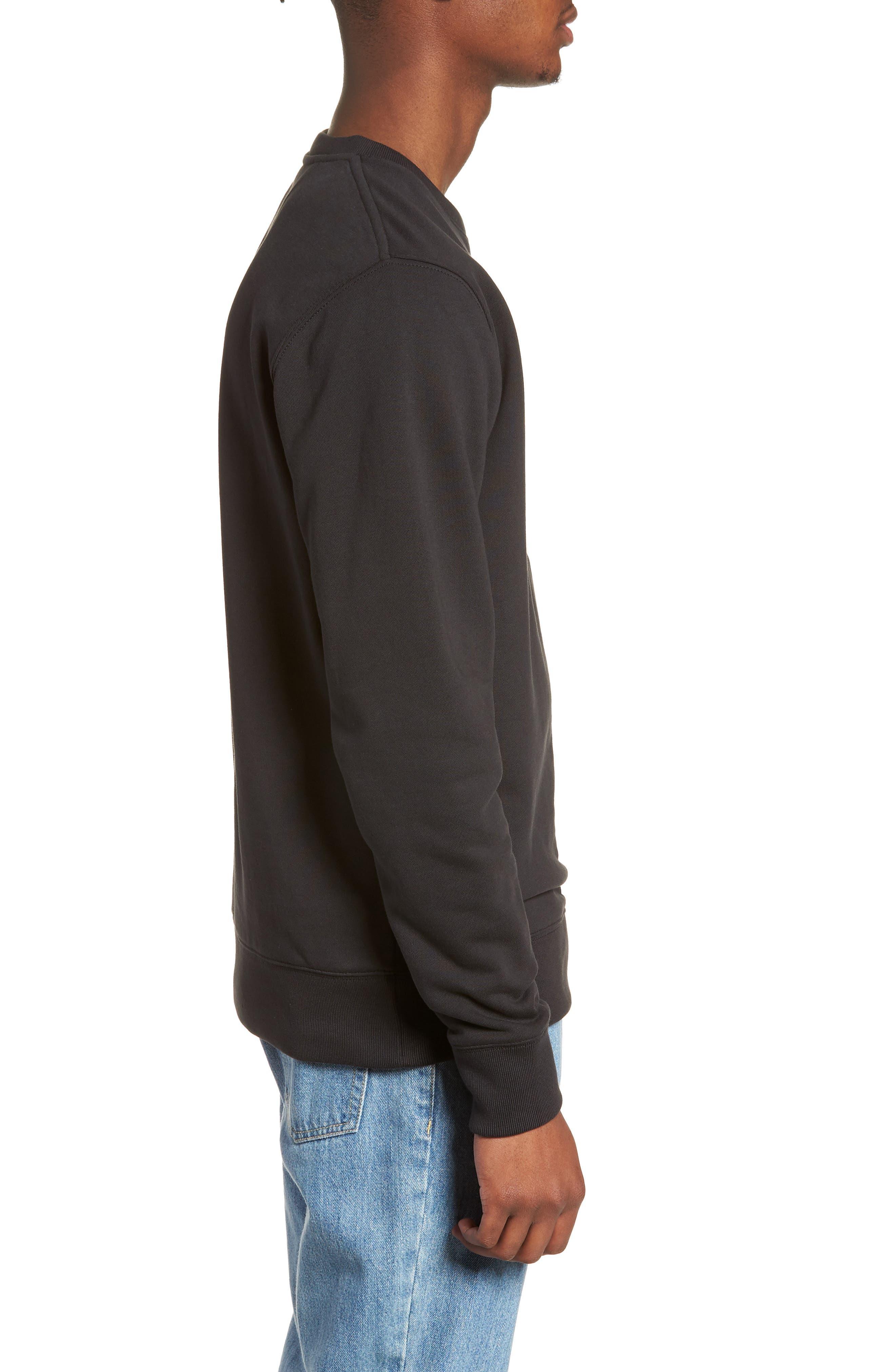 Bowery Slash Sweatshirt,                             Alternate thumbnail 3, color,                             Black