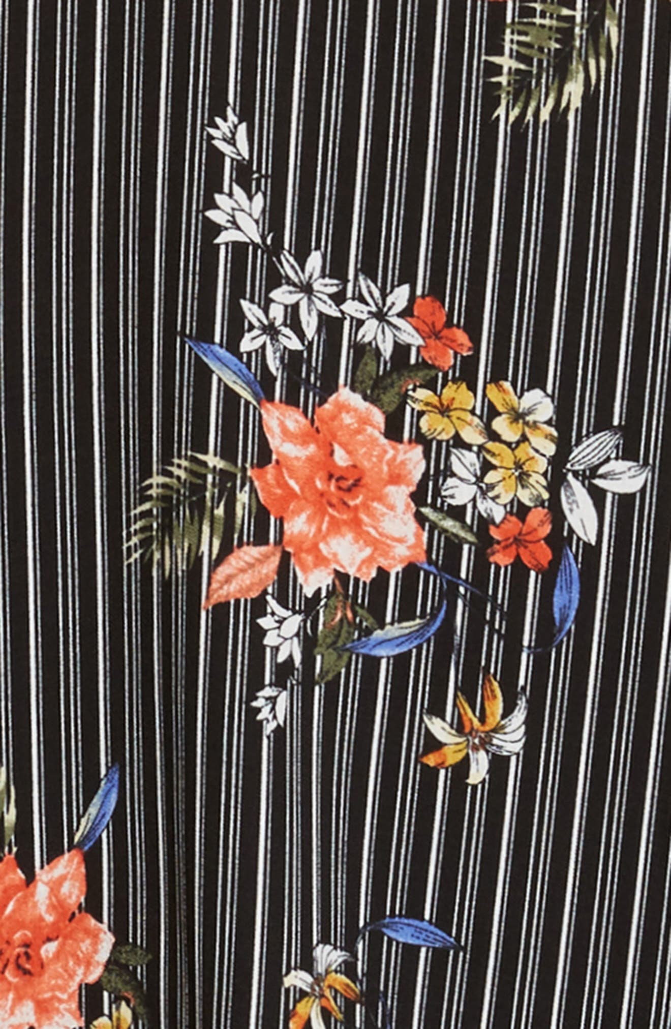 Print Bell Sleeve Shift Dress,                             Alternate thumbnail 3, color,                             002 Black