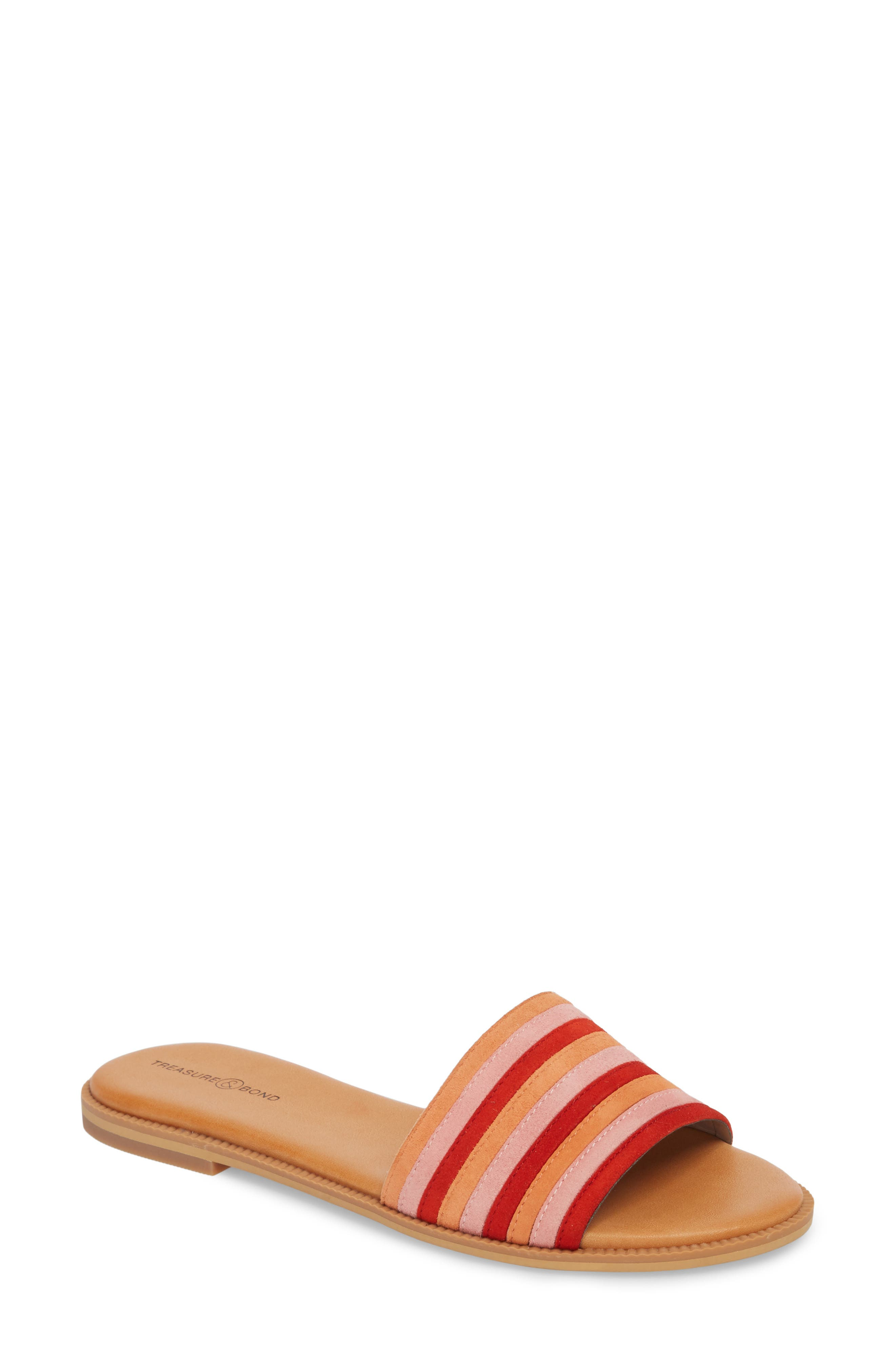 Treasure & Bond Mere Flat Slide Sandal (Women)