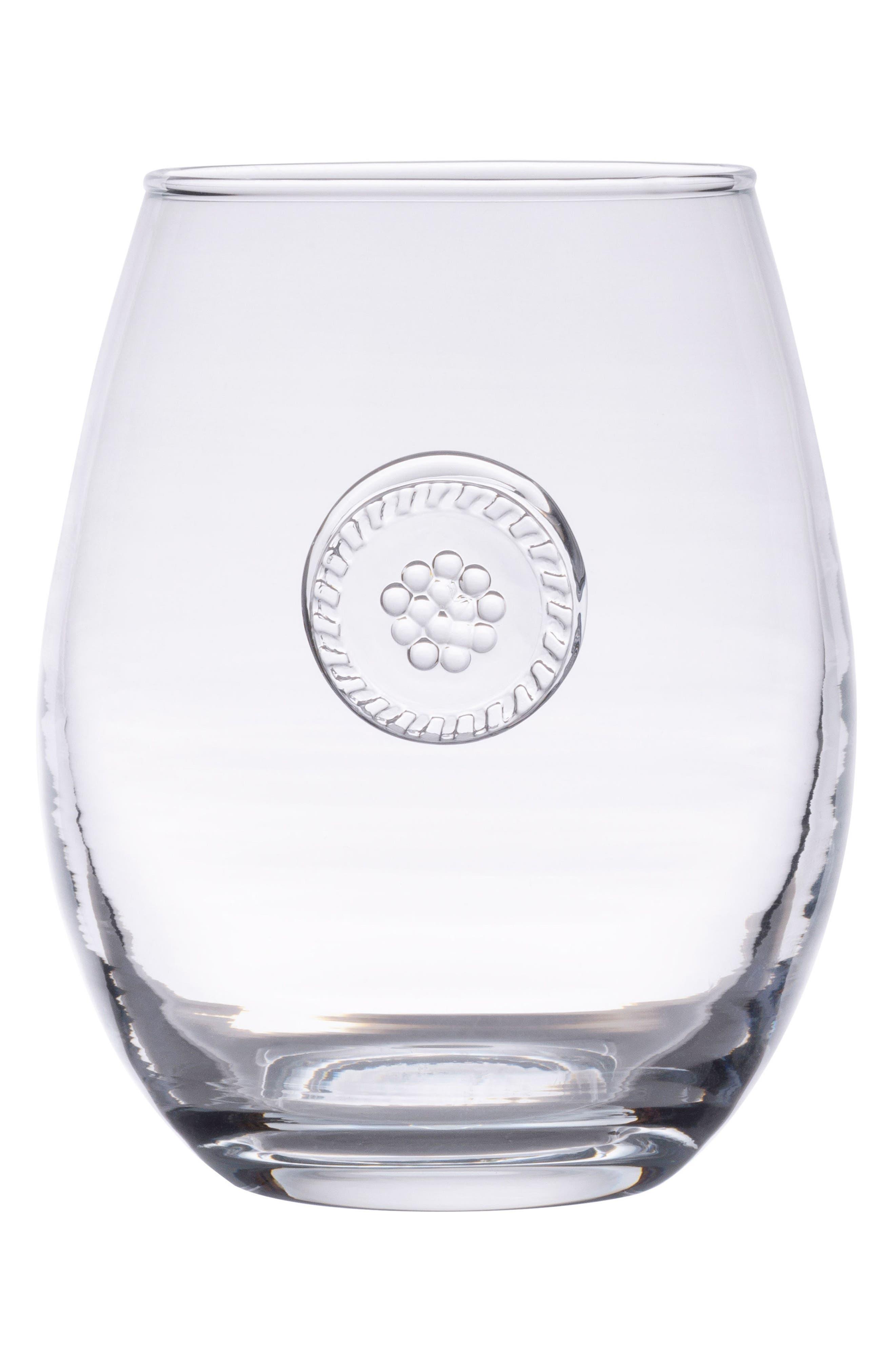 Juliska Berry & Thread Stemless White Wine Glass
