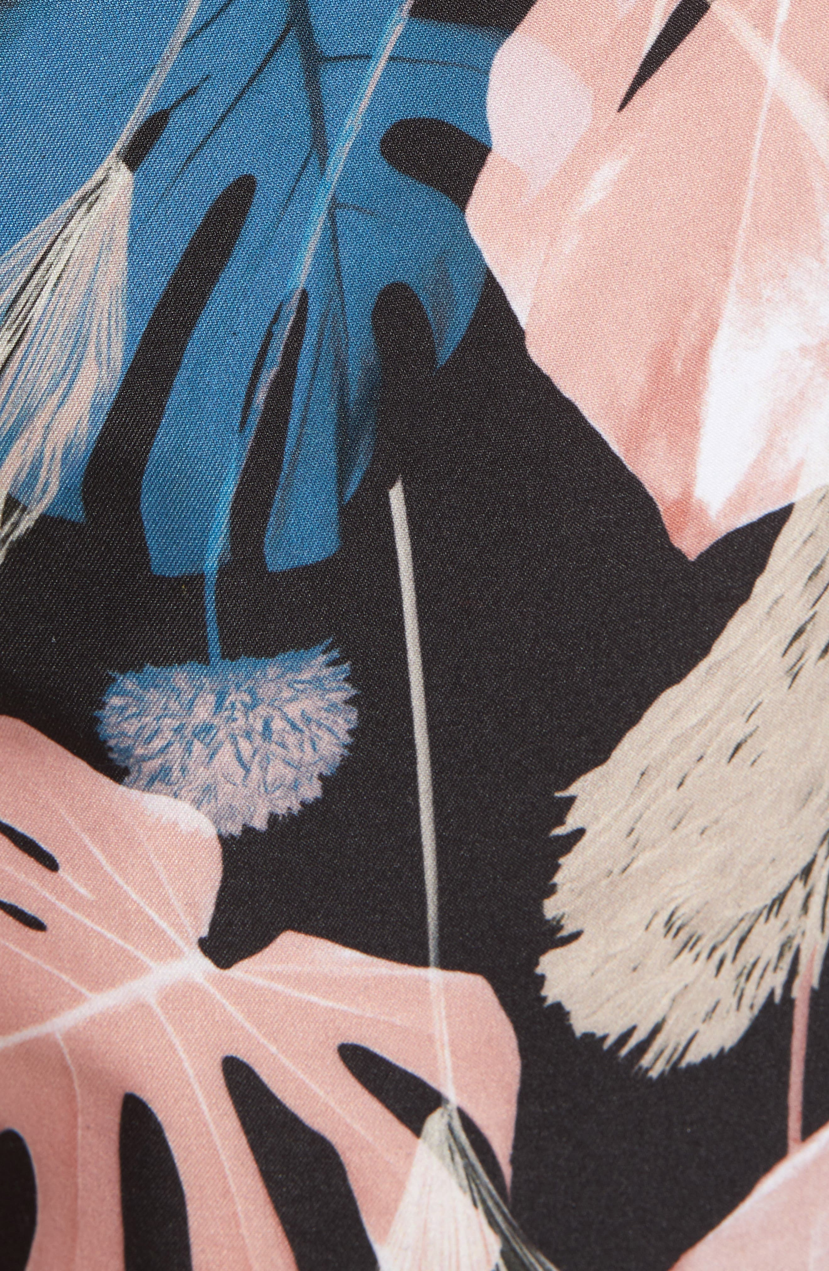 Trent Monstera Swim Shorts,                             Alternate thumbnail 5, color,                             Monstera Print