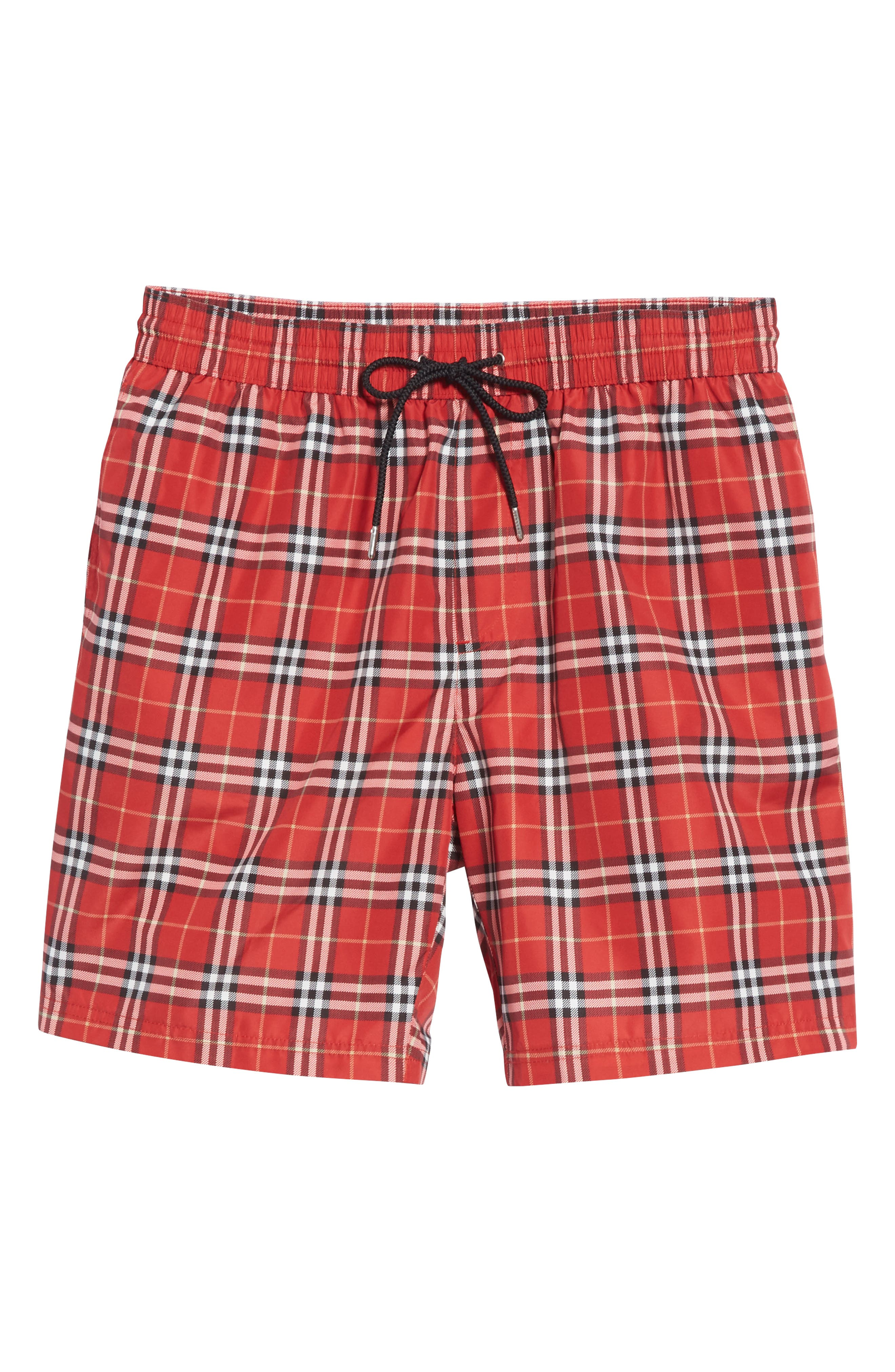 Guides New Check Swim Trunks,                             Alternate thumbnail 6, color,                             Parade Red