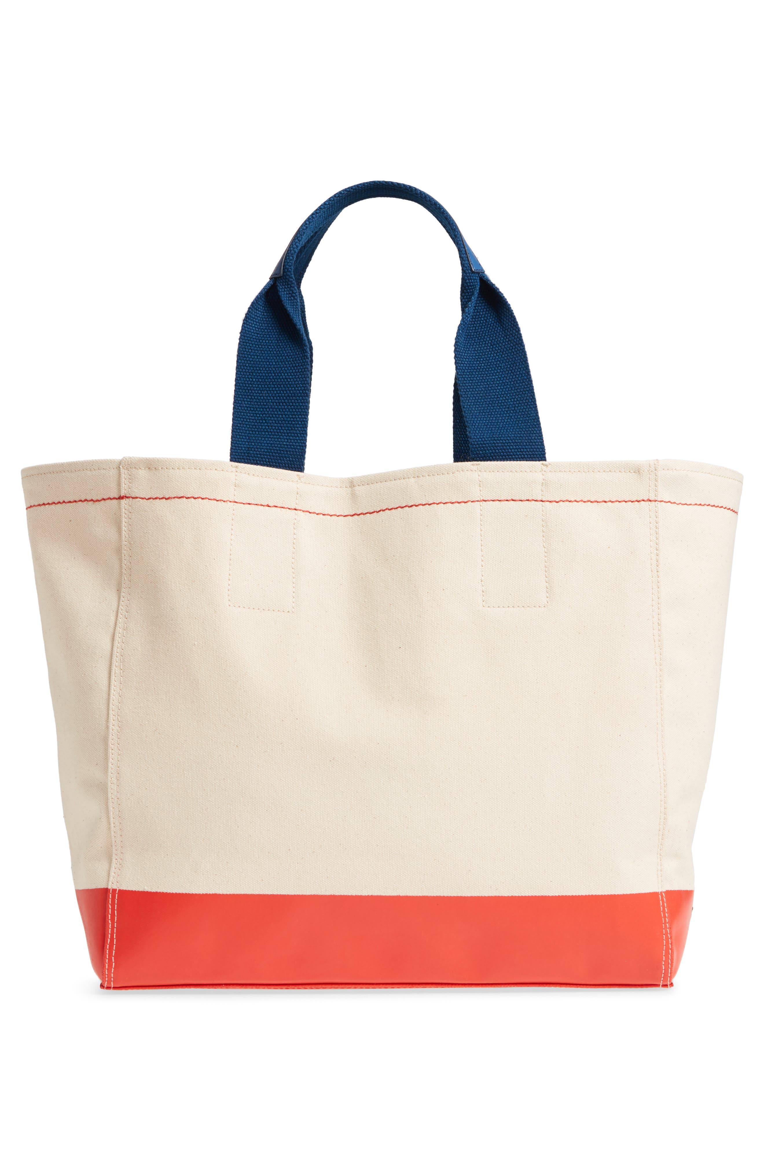 Pinch Canvas Tote,                             Alternate thumbnail 3, color,                             Lobster Print