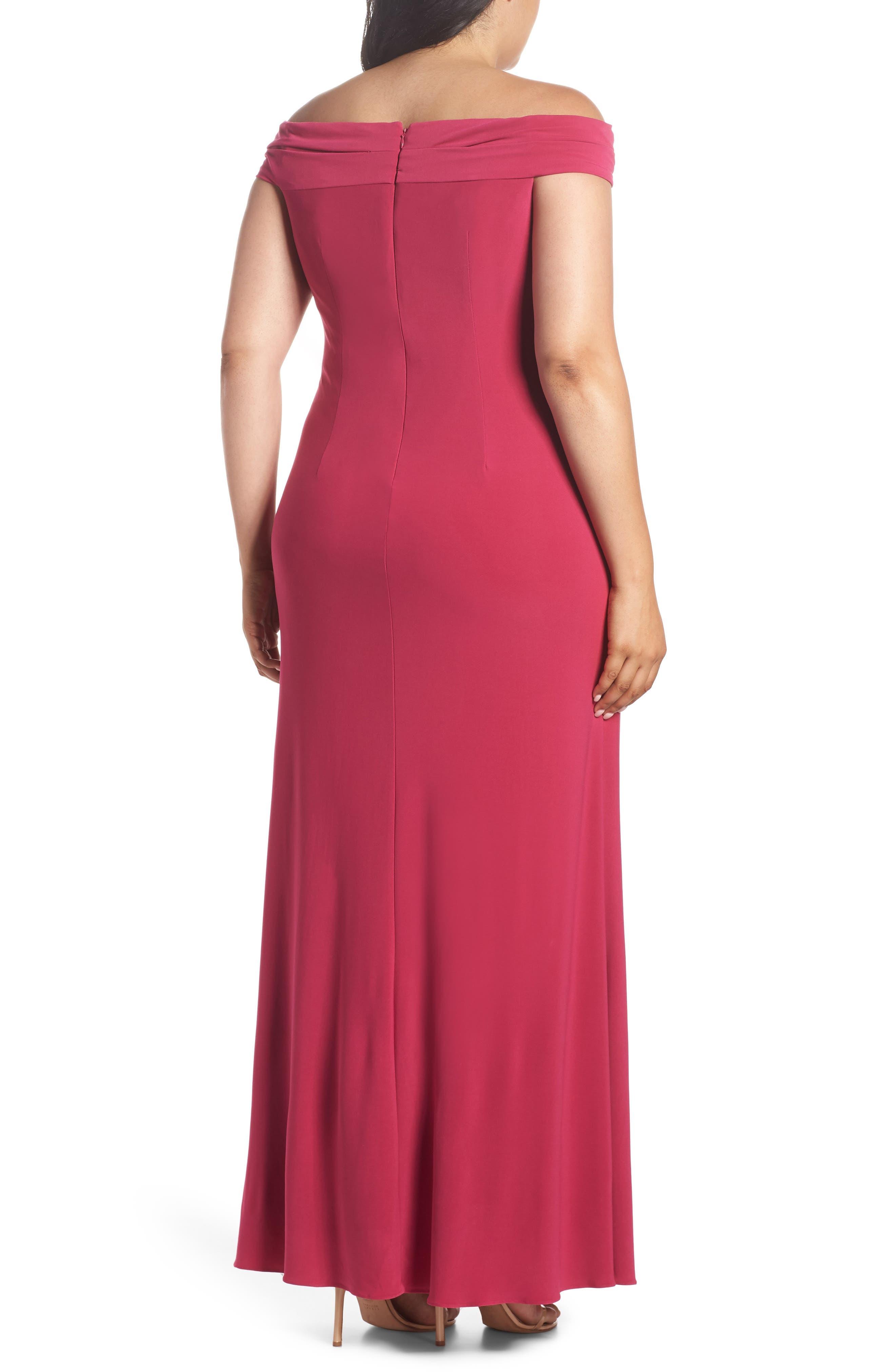 Off the Shoulder Jersey Dress,                             Alternate thumbnail 2, color,                             Bright Syrah