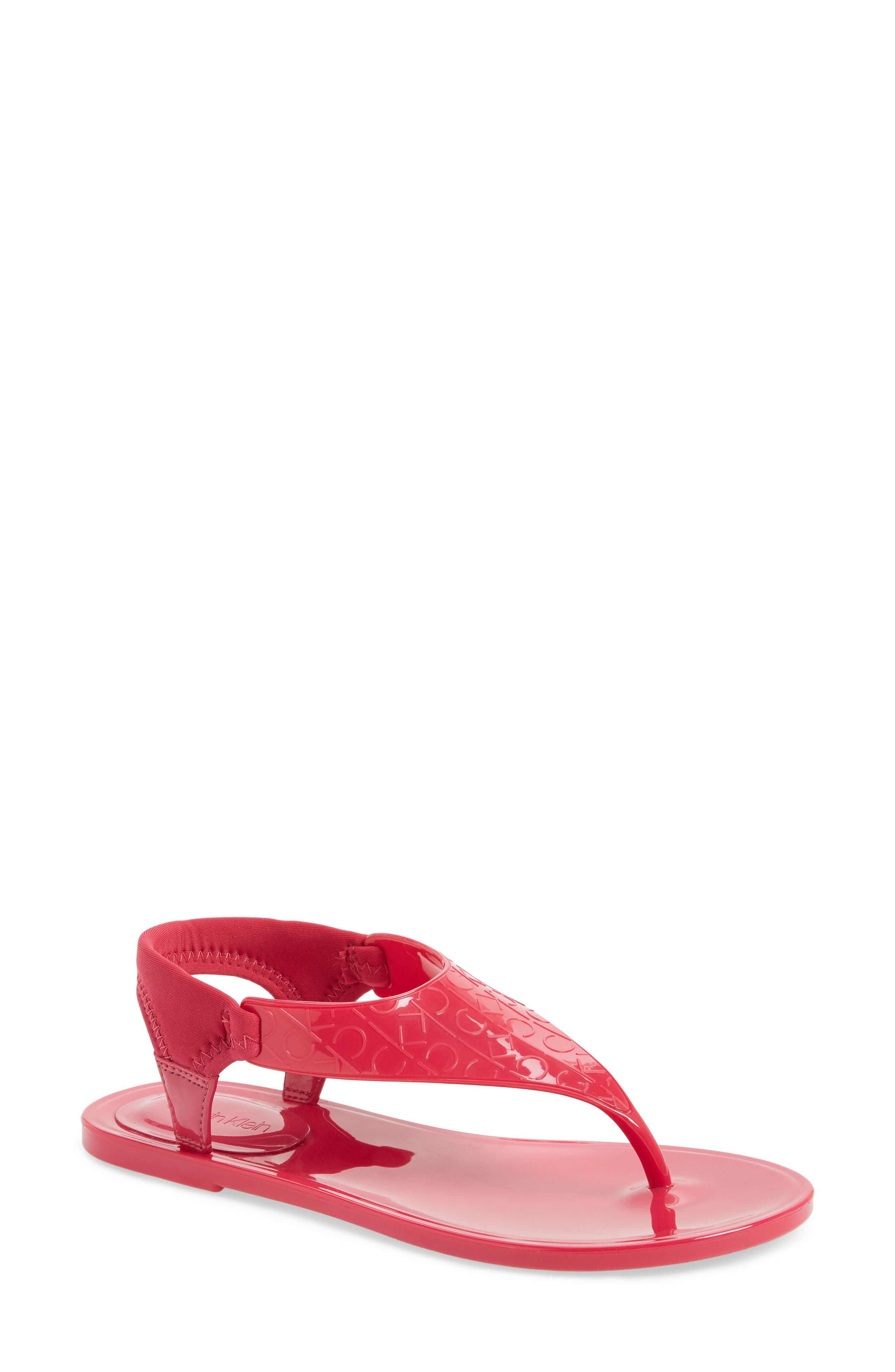 Janny Jelly Sandal,                             Main thumbnail 1, color,                             Hibiscus Pink