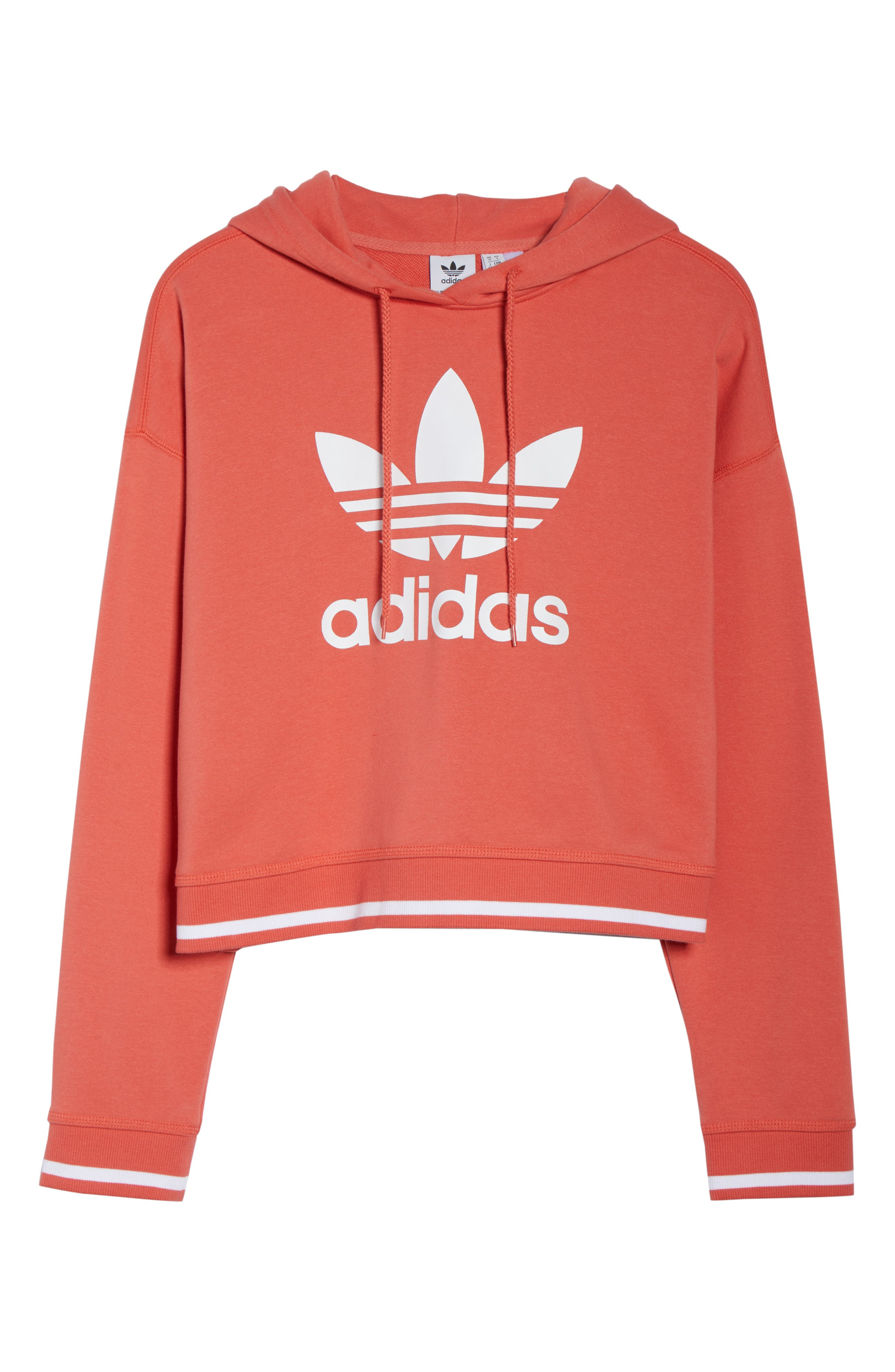Active Icons Cropped Hoodie,                             Alternate thumbnail 7, color,                             Trace Scarlet