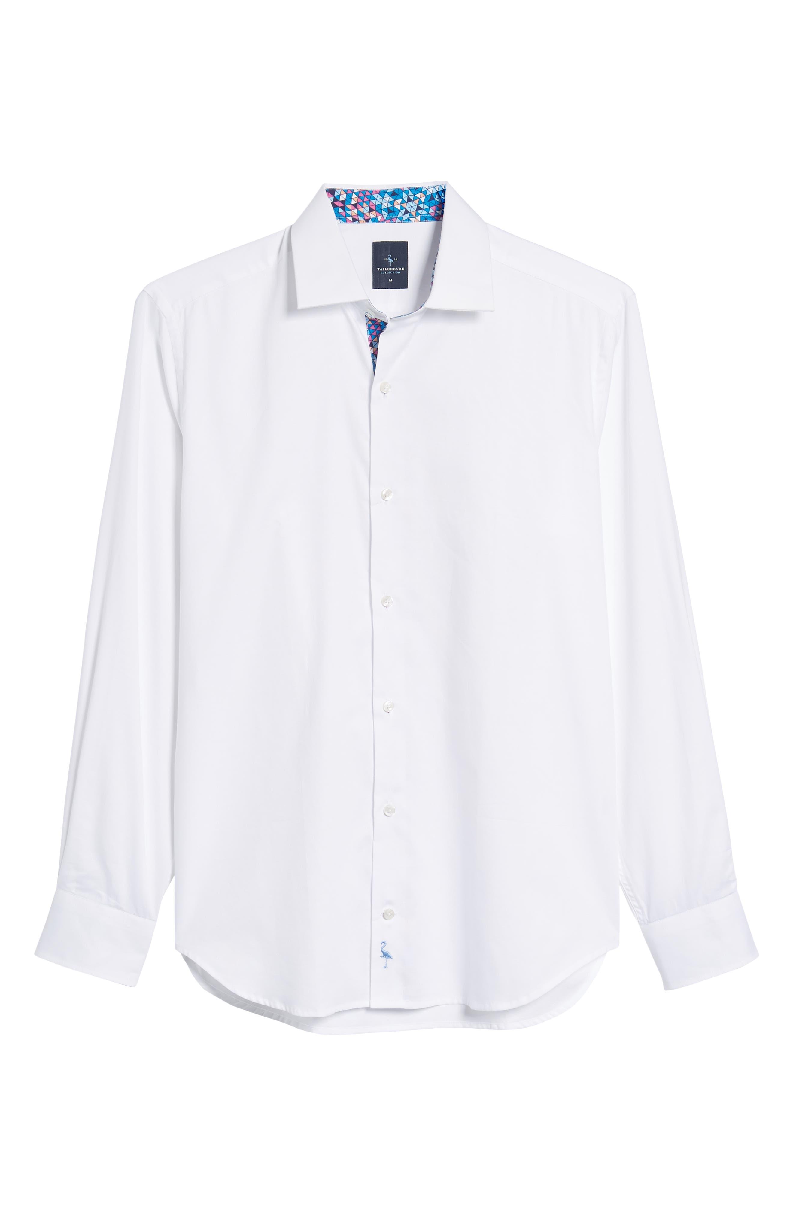 Angelo Regular Fit Sport Shirt,                             Alternate thumbnail 6, color,                             White