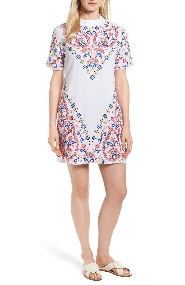 Fleur Embroidered Cotton Minidress