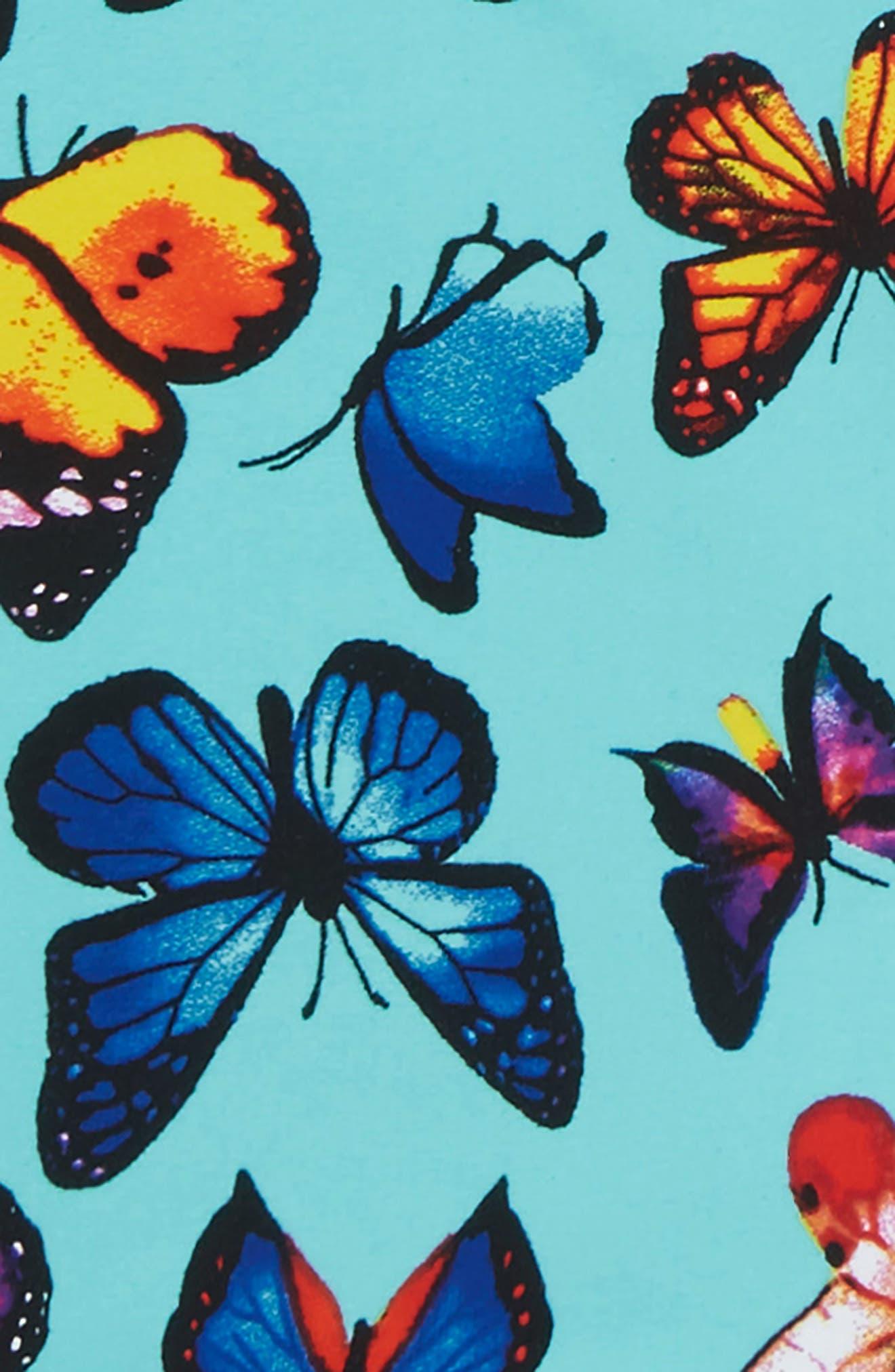 Print Macramé Two-Piece Swimsuit,                             Alternate thumbnail 2, color,                             Turquoise
