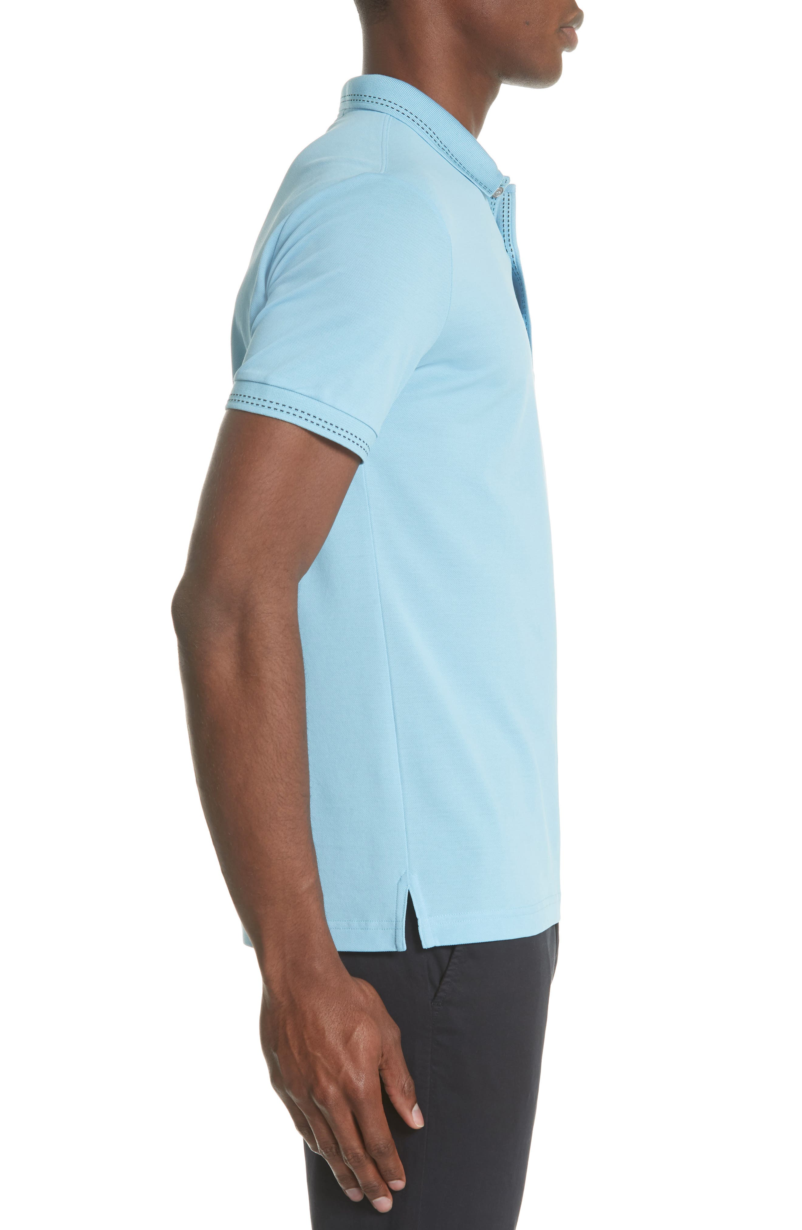 Kenforth Polo,                             Alternate thumbnail 3, color,                             Pale Turquoise