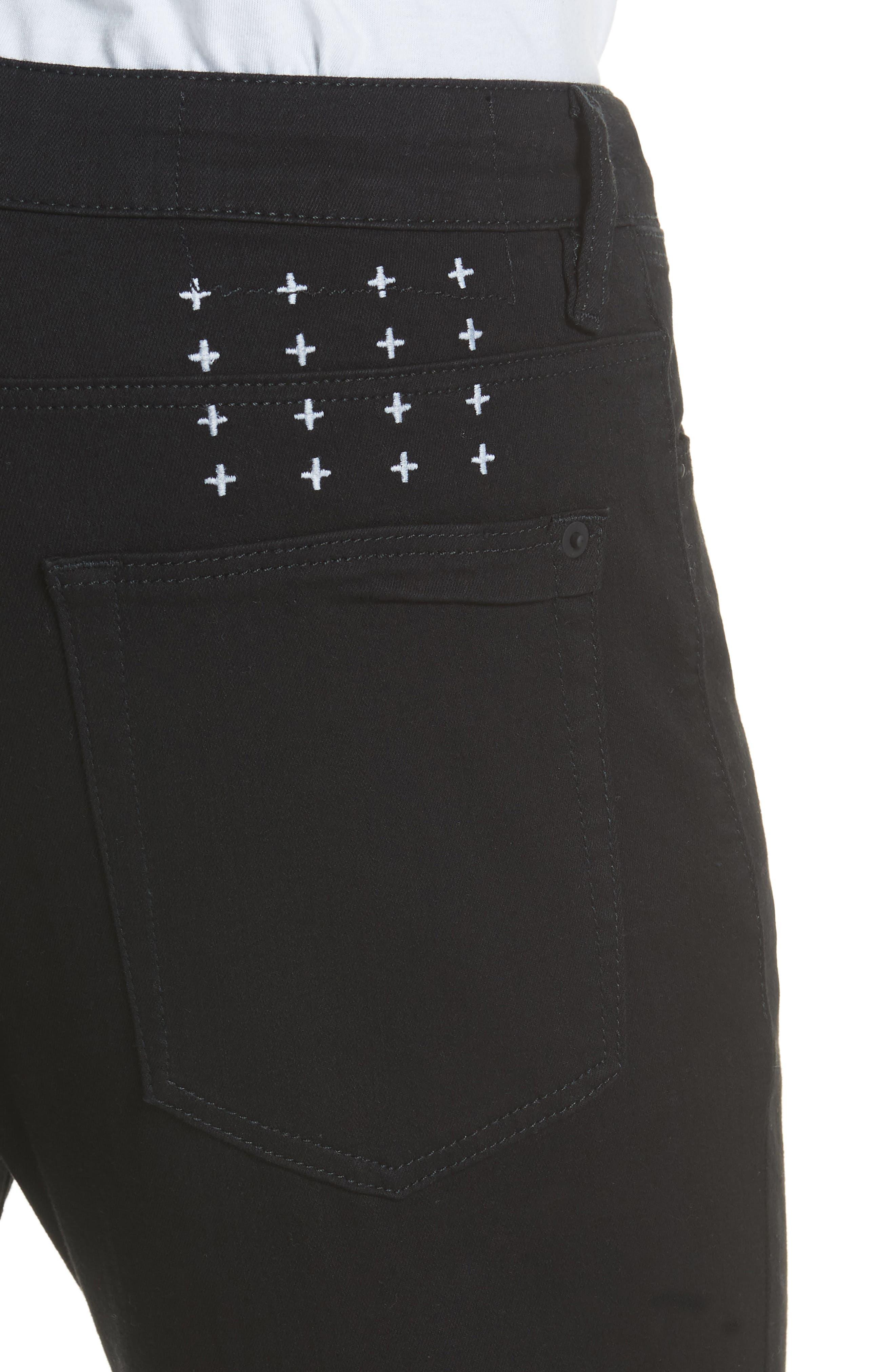 Van Winkle Black Rebel Skinny Fit Jeans,                             Alternate thumbnail 4, color,                             Black