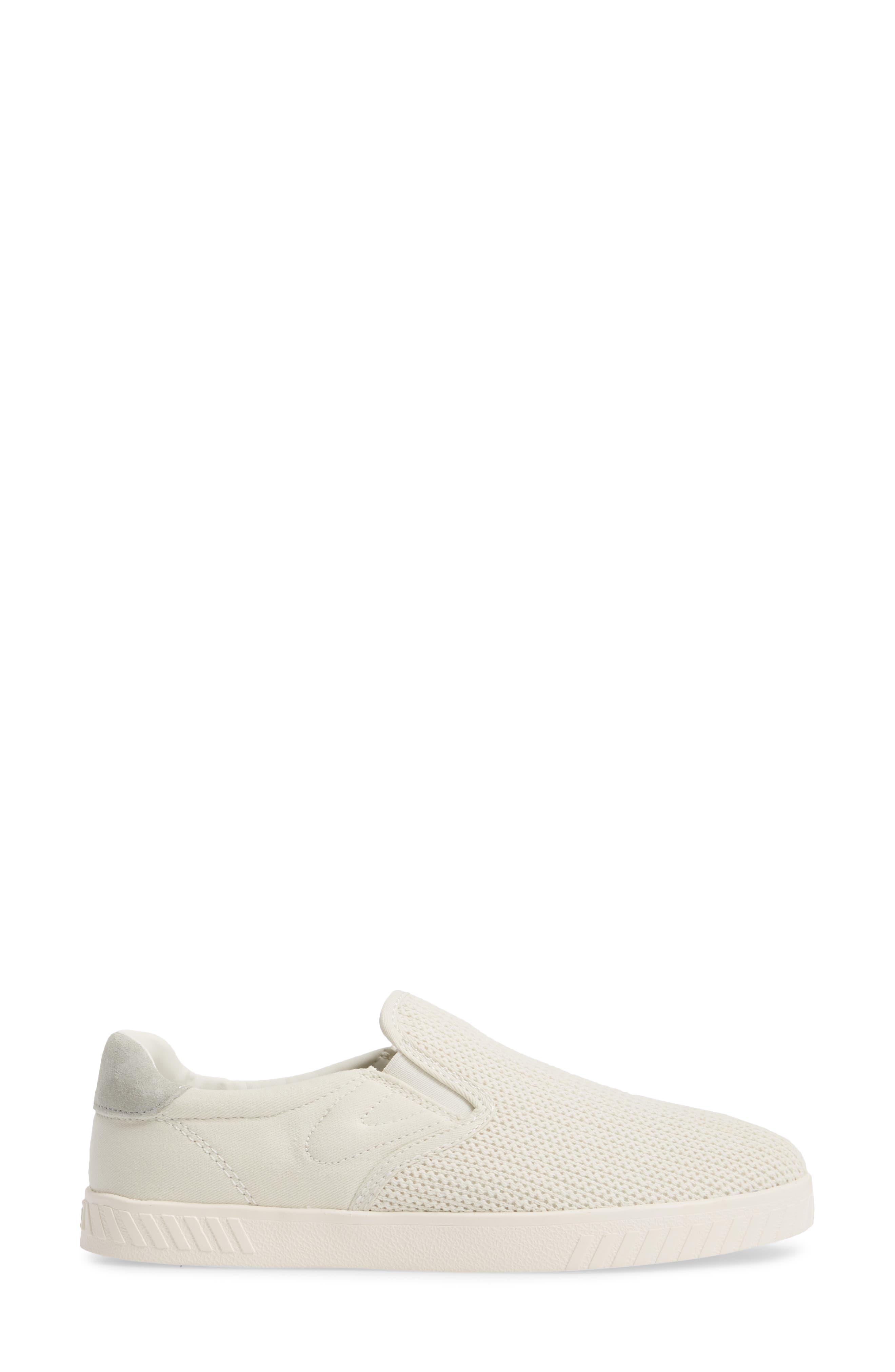Cruz Mesh Slip-On Sneaker,                             Alternate thumbnail 3, color,                             Vintage White