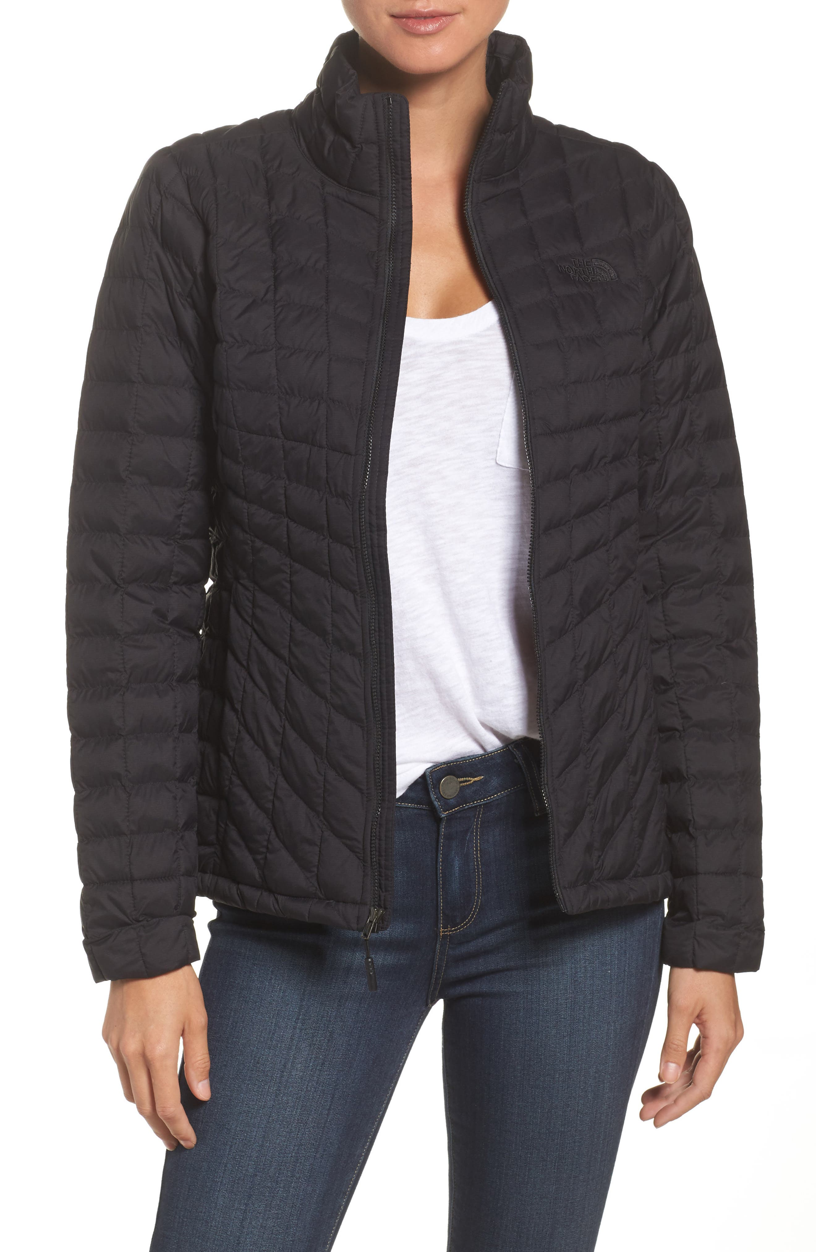ThermoBall<sup>™</sup> Full Zip Jacket,                         Main,                         color, Black Matte
