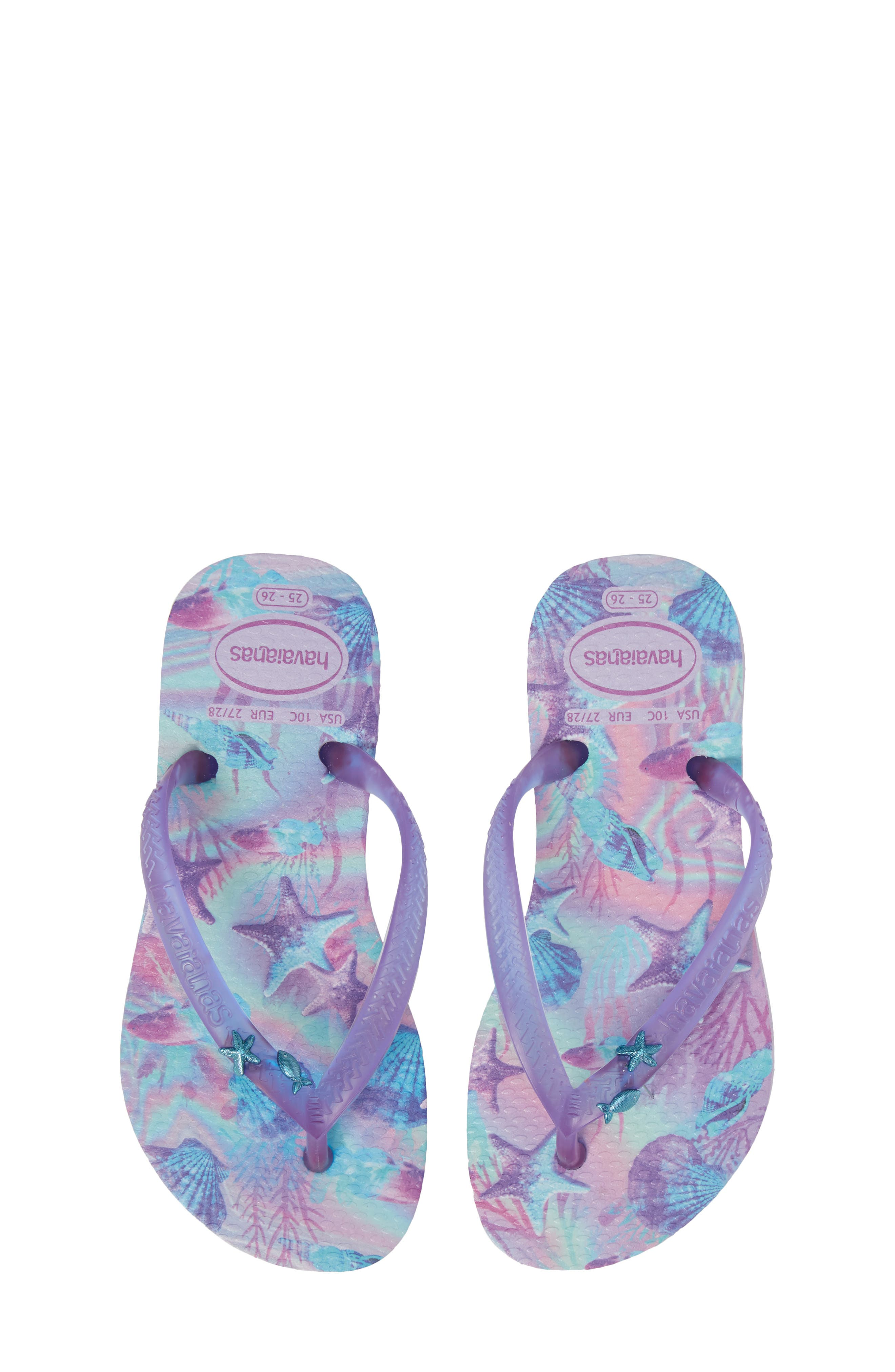 Havianas Slim Summer Flip Flop,                             Main thumbnail 1, color,                             Lavender