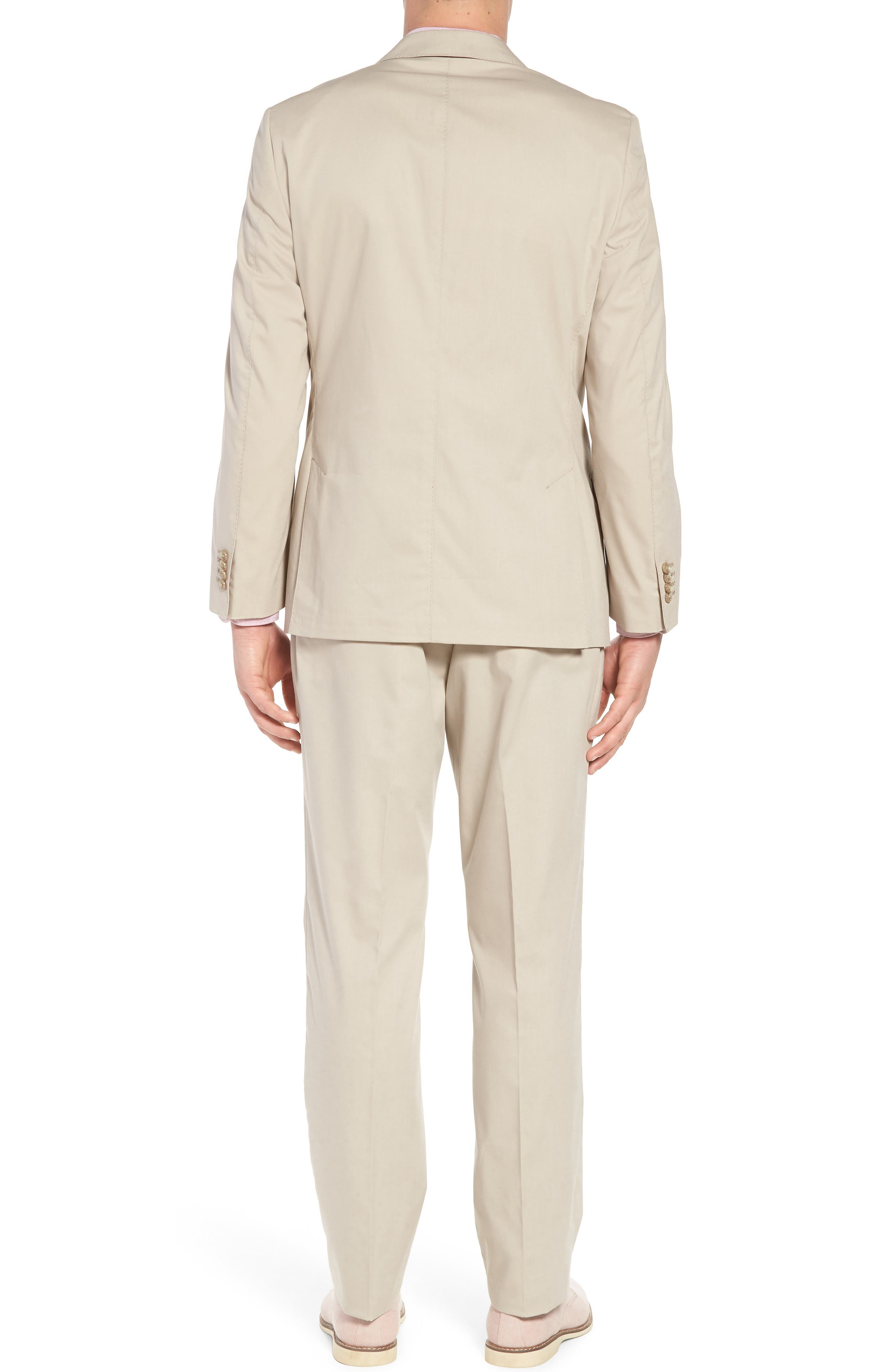 Irons AIM Classic Fit Solid Cotton Blend Suit,                             Alternate thumbnail 2, color,                             Beige