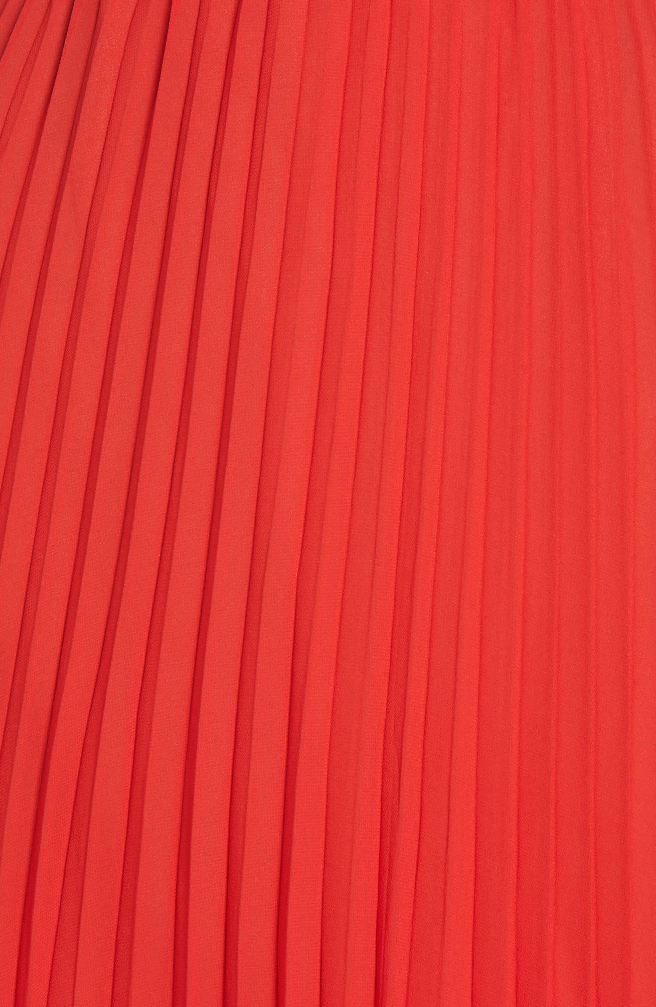 Nealea Pleated Sheath Dress,                             Alternate thumbnail 7, color,                             Red