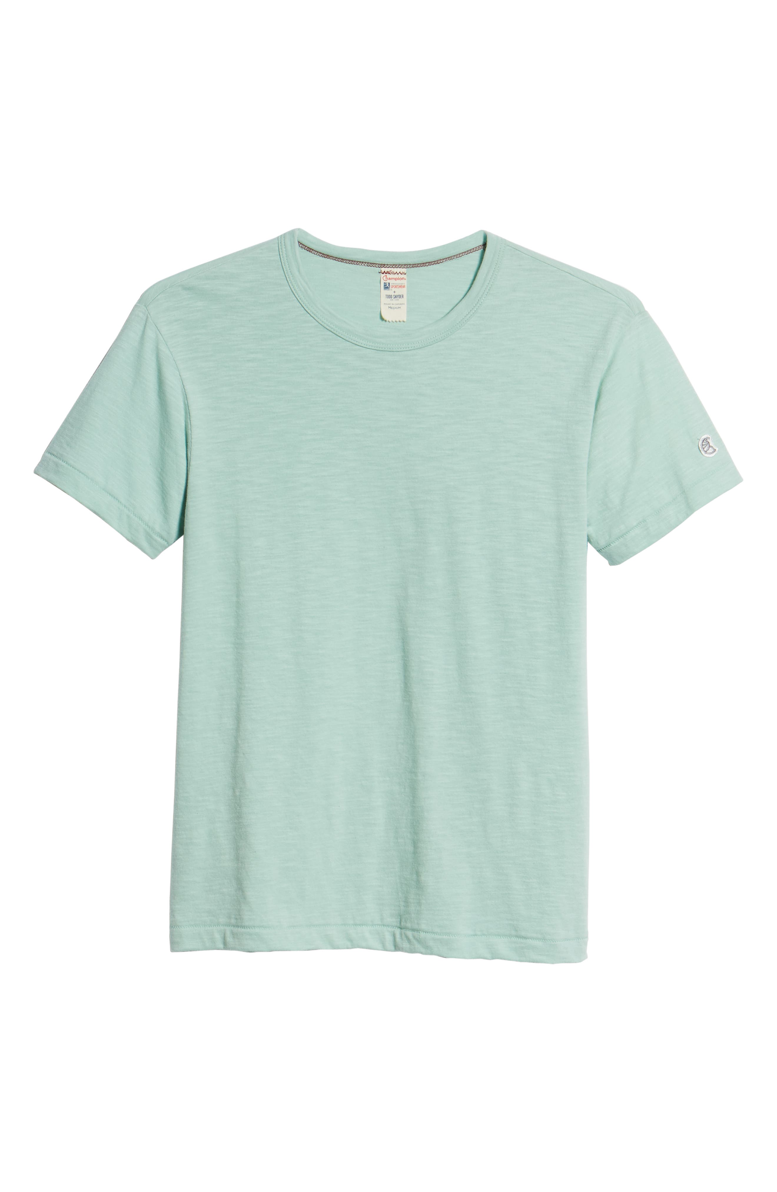 + Champion Crewneck T-Shirt,                             Alternate thumbnail 6, color,                             Vintage Aqua