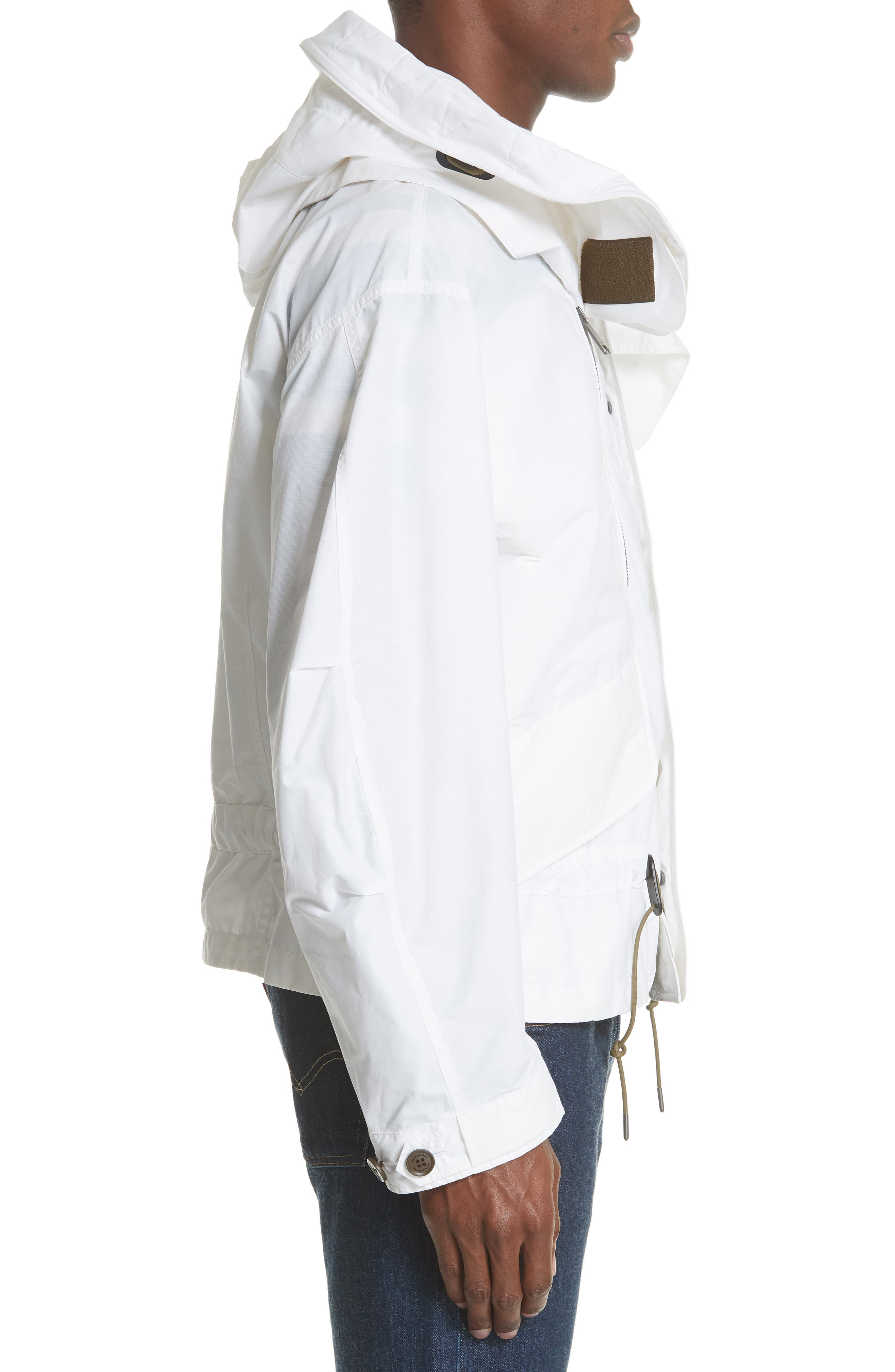 Shenwood Tech Jacket with Detachable Hood,                             Alternate thumbnail 3, color,                             White